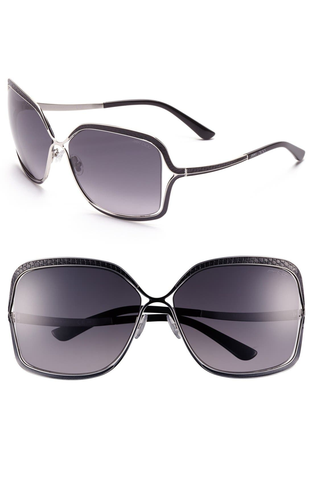 Alternate Image 1 Selected - Jimmy Choo 63mm Oversized Sunglasses