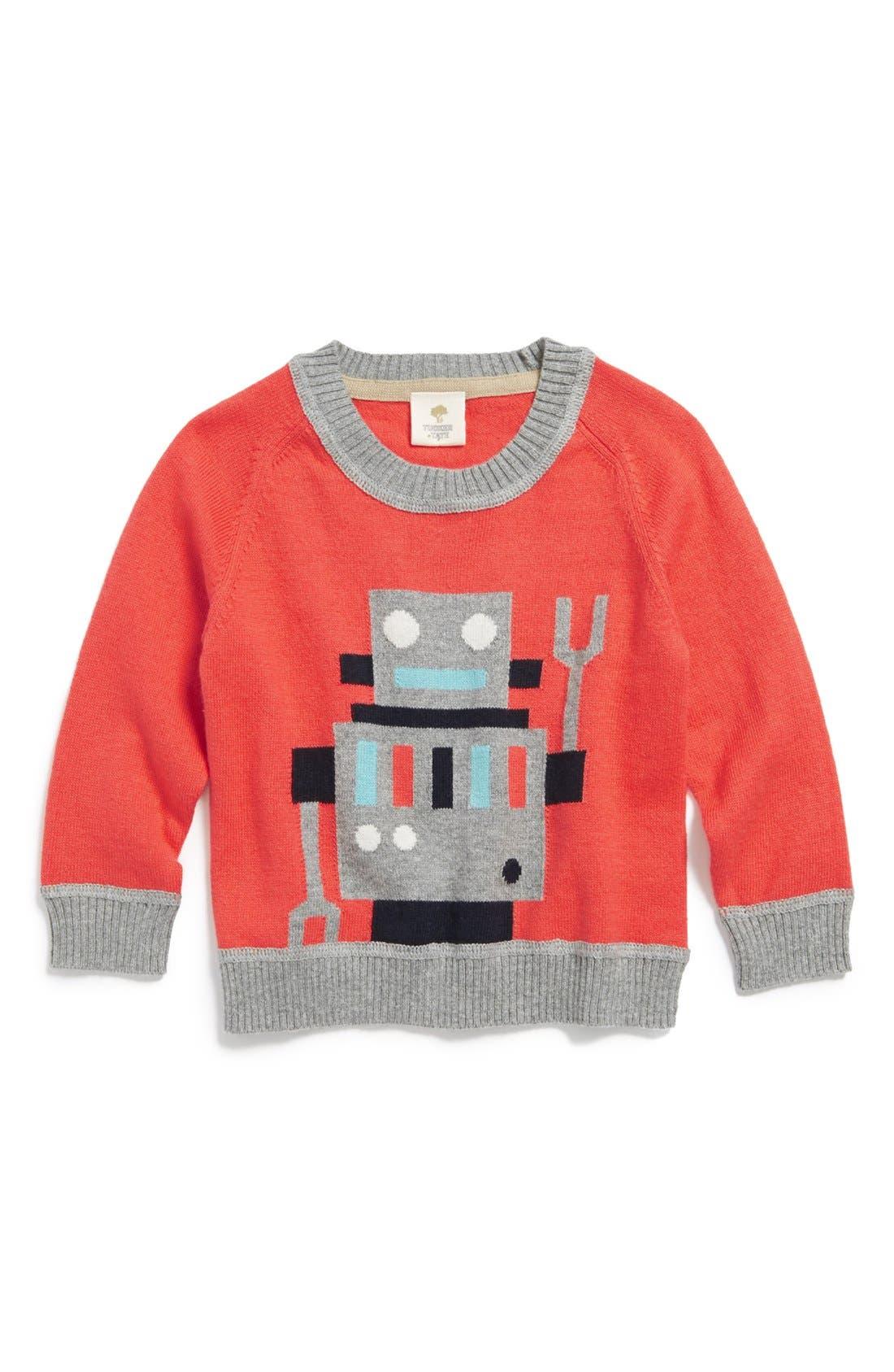 Main Image - Tucker + Tate Knit Cotton & Cashmere Crewneck Sweater (Baby Boys)