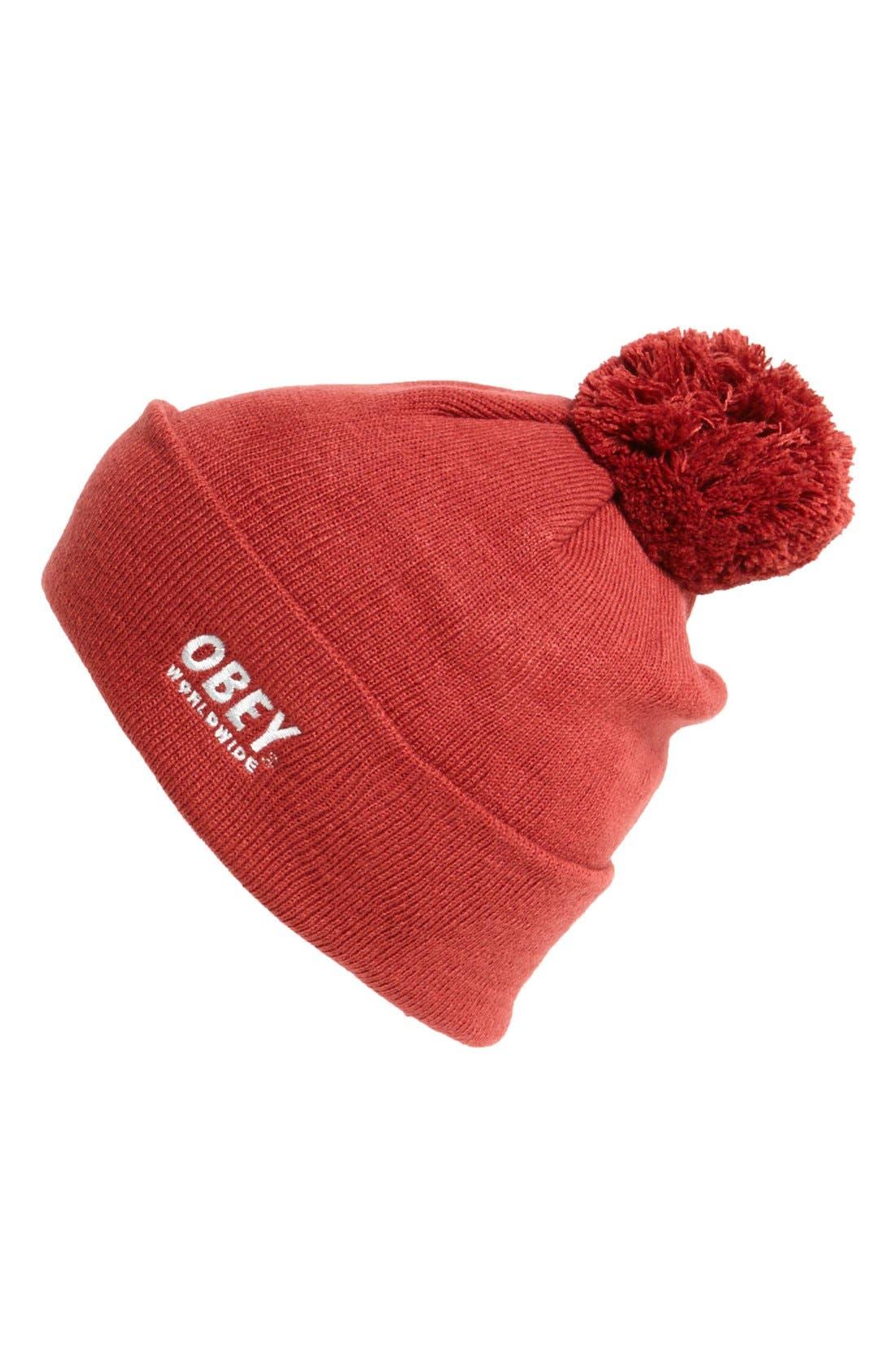 Alternate Image 1 Selected - Obey 'Worldwide' Pompom Knit Cap