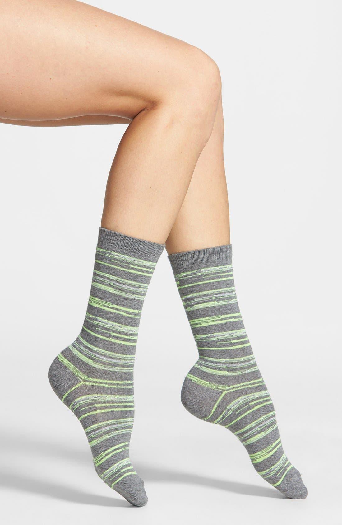 Alternate Image 1 Selected - Nordstrom Space Dye Crew Socks
