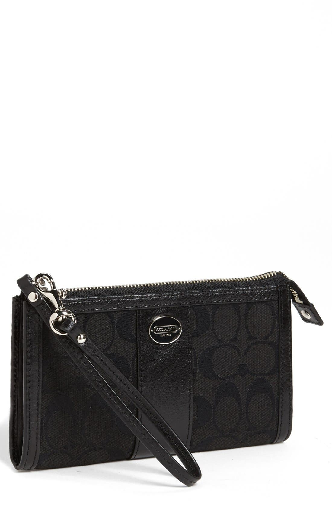 Main Image - COACH 'Signature - Zippy' Wallet