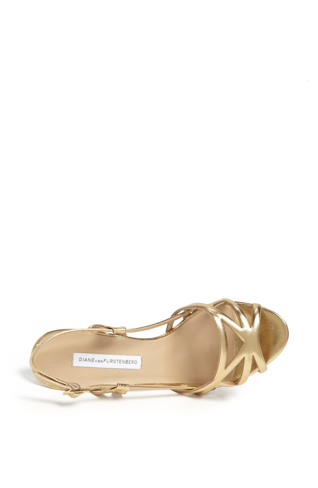 Alternate Image 3  - Diane von Furstenberg 'Upton' Metallic Leather Sandal