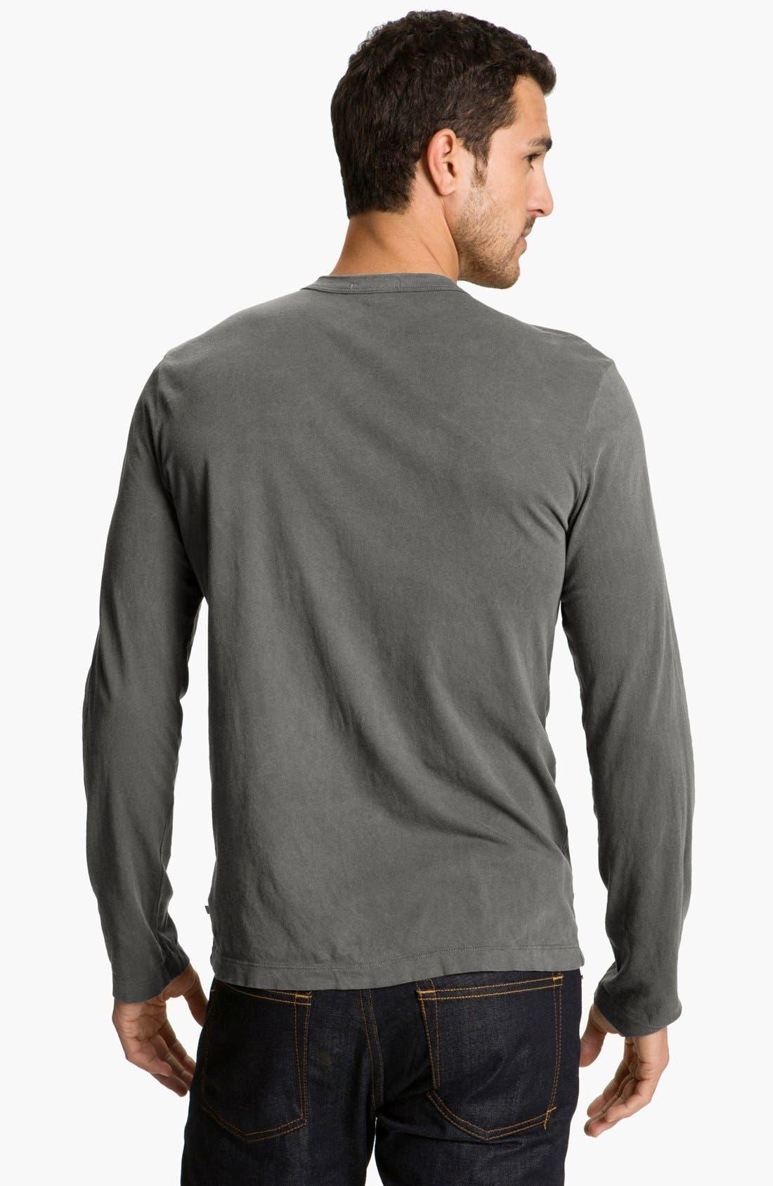 Alternate Image 2  - James Perse Long Sleeve Crewneck T-Shirt