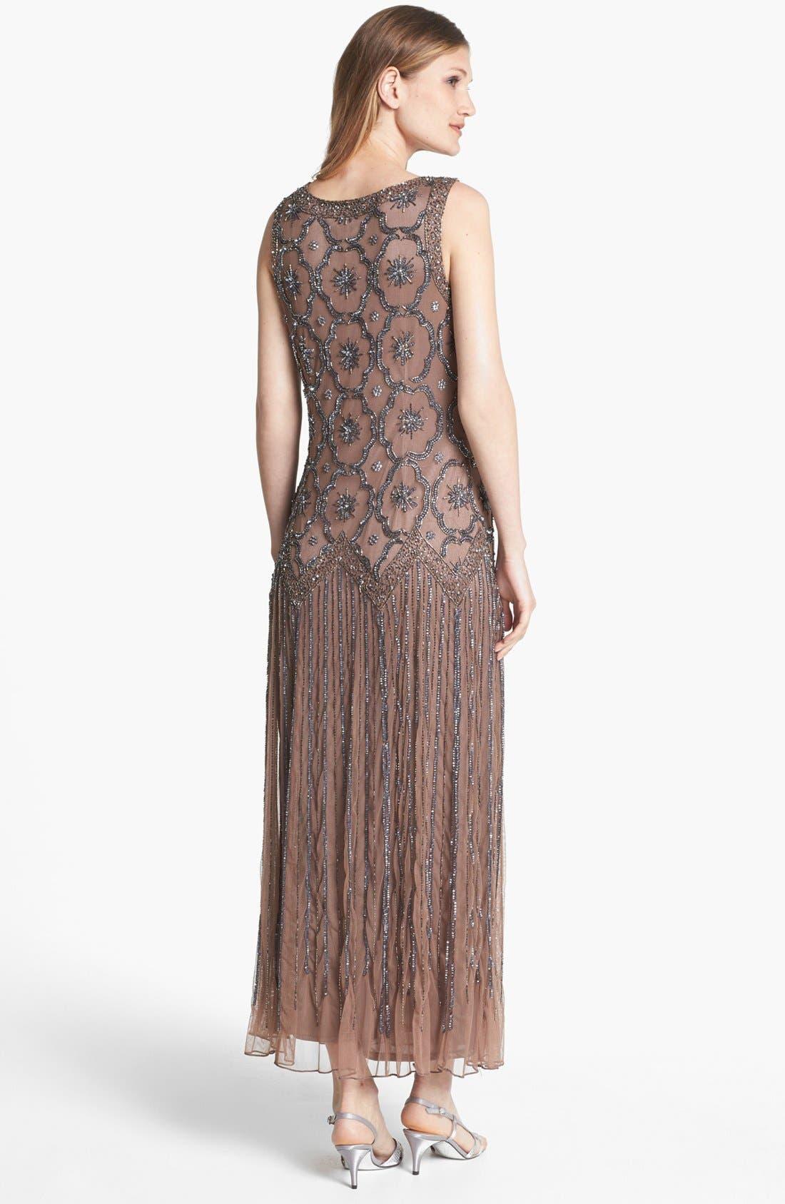 Alternate Image 2  - Pisarro Nights Embellished Drop Waist Midi Dress