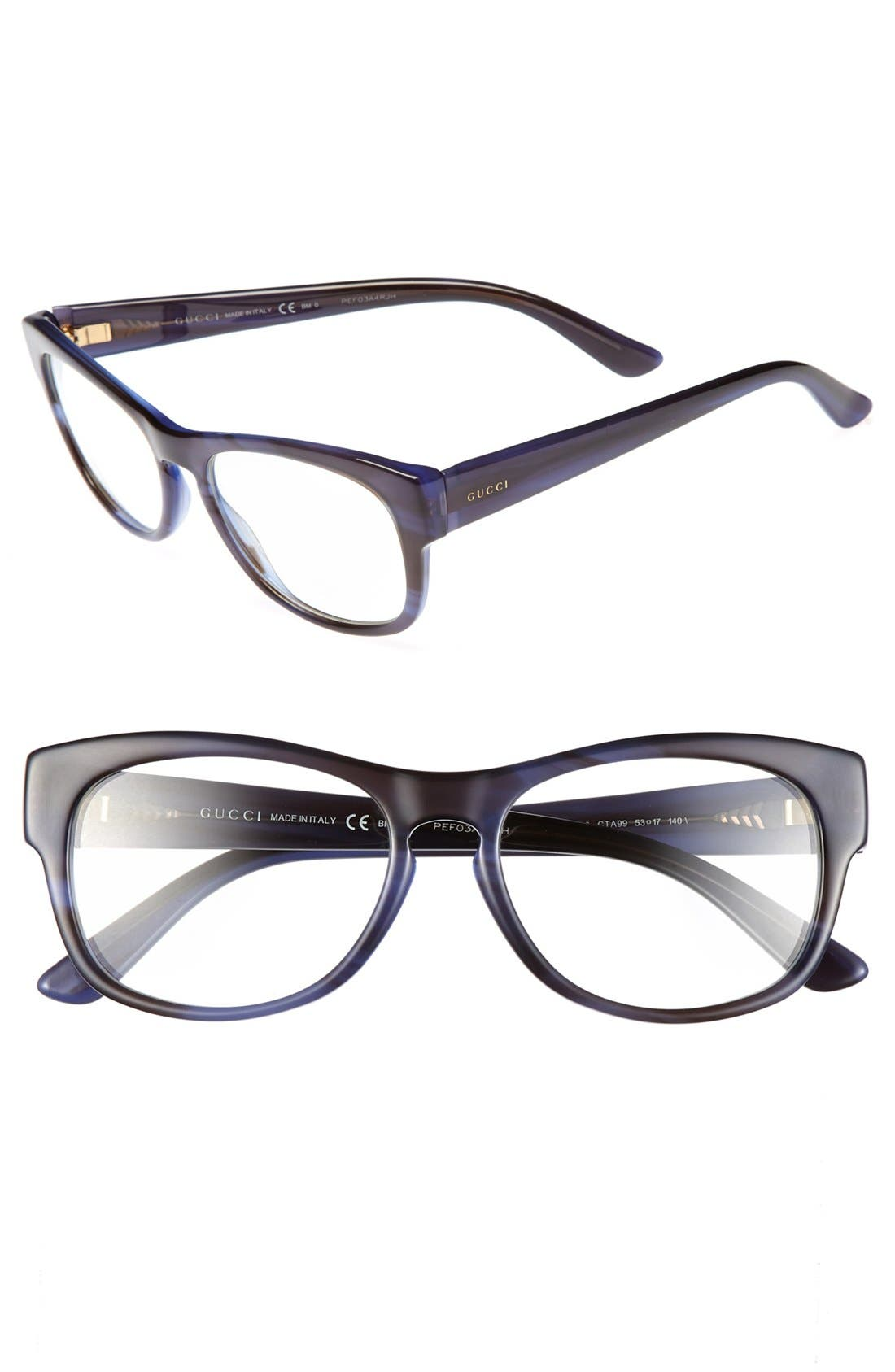 Alternate Image 1 Selected - Gucci 53mm Optical Glasses (Online Only)