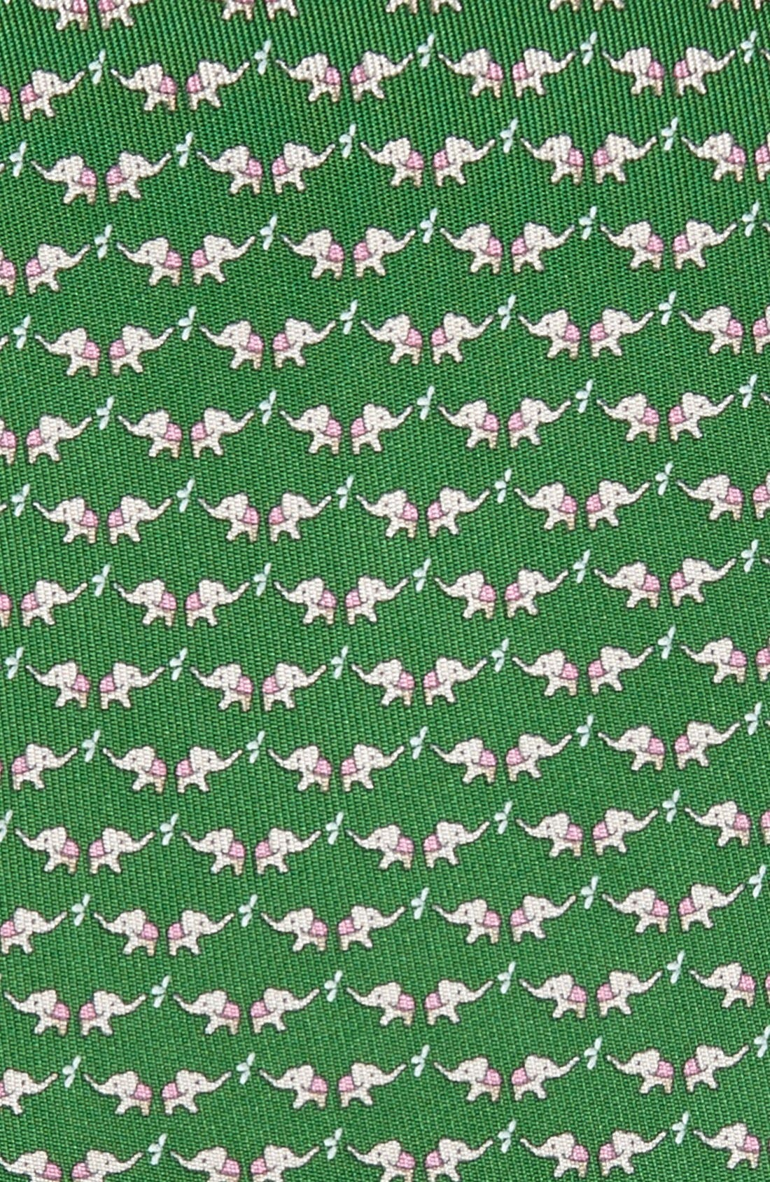 Alternate Image 2  - Salvatore Ferragamo Elephant Print Silk Tie