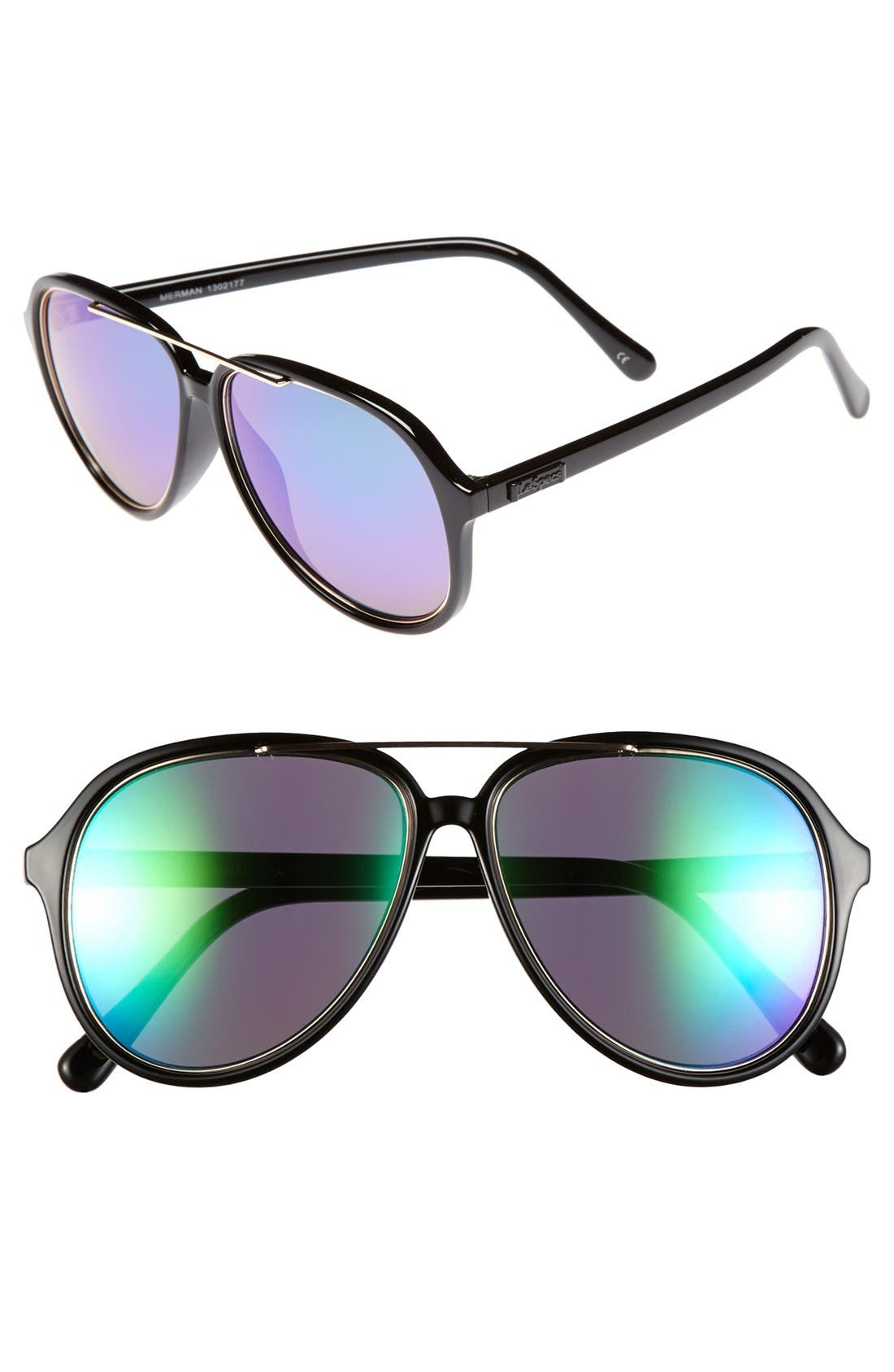 Alternate Image 1 Selected - Le Specs 'Merman' 58mm Aviator Sunglasses