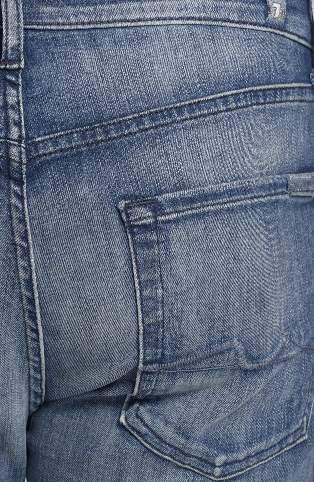 Alternate Image 4  - 7 For All Mankind® 'Slimmy - Luxe Performance' Slim Fit Jeans (Nakitta Blue)