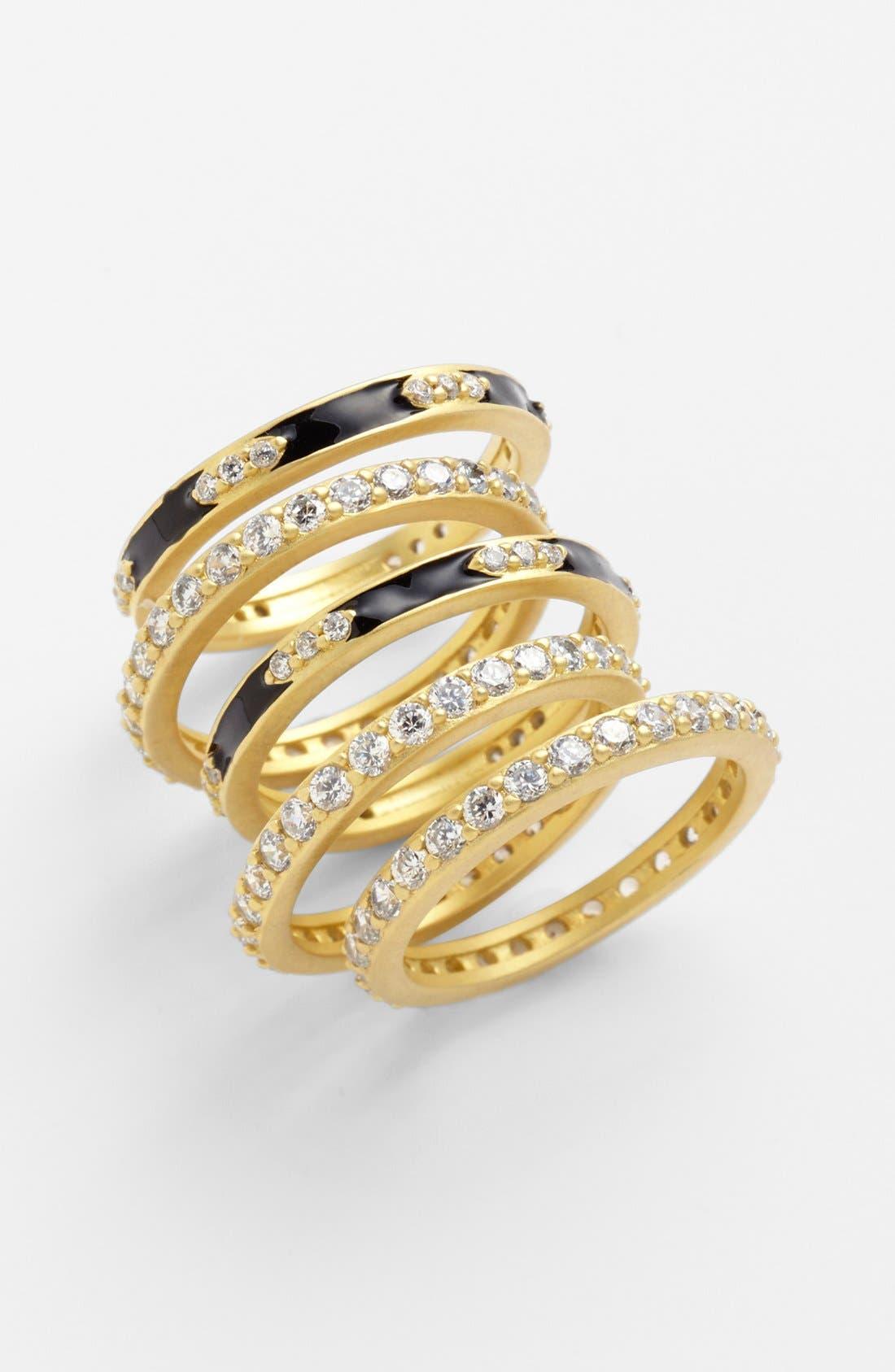 Main Image - FREIDA ROTHMAN Stackable Rings (Set of 5)
