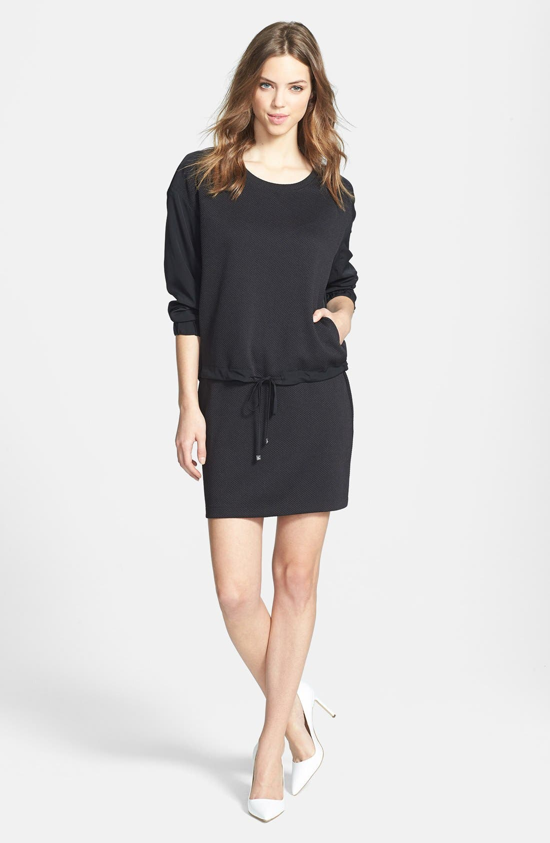 Alternate Image 4  - Two by Vince Camuto 'Tech' Waffle Knit Sweatshirt