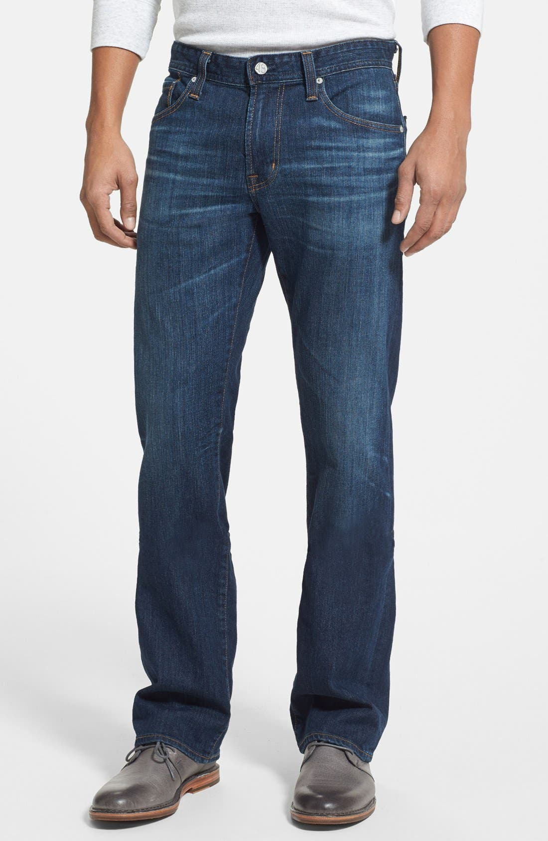 Alternate Image 1 Selected - AG 'Protégé' Straight Leg Jeans (4 Year Brisk)