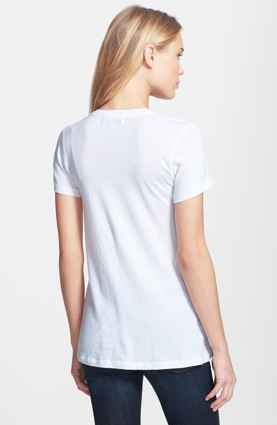 Alternate Image 2  - Wildfox 'Sparkle Heart' Crewneck Cotton Tee (Special Purchase)