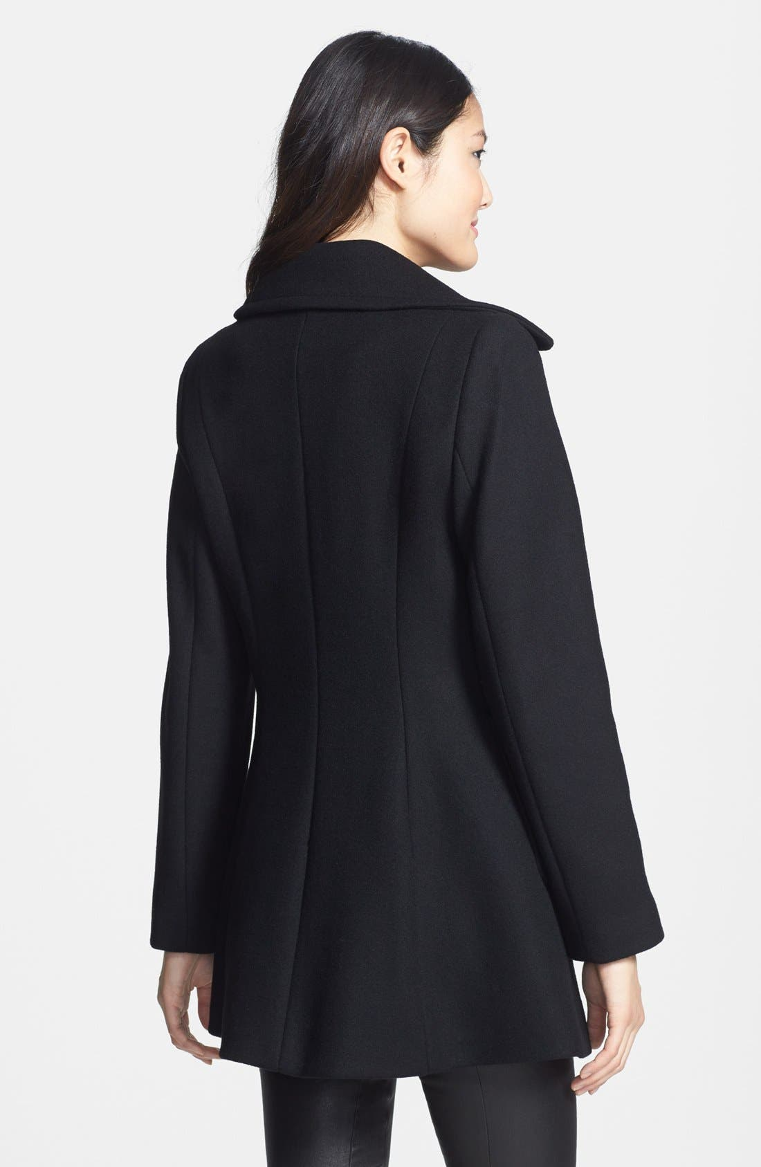 Alternate Image 2  - Kristen Blake Single Breasted Wool Blend Walking Coat (Nordstrom Exclusive)