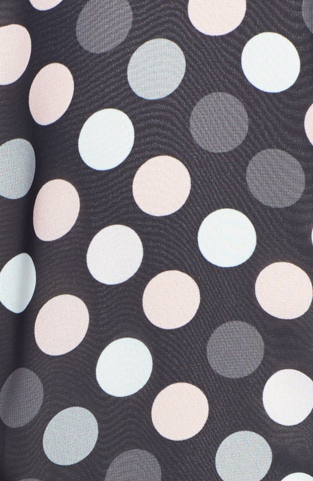 Alternate Image 3  - Tahari Polka Dot Chiffon & Crepe Sheath Dress