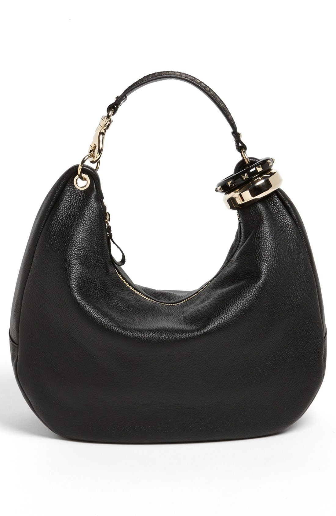 Alternate Image 4  - Jimmy Choo 'Large Solar' Leather Hobo