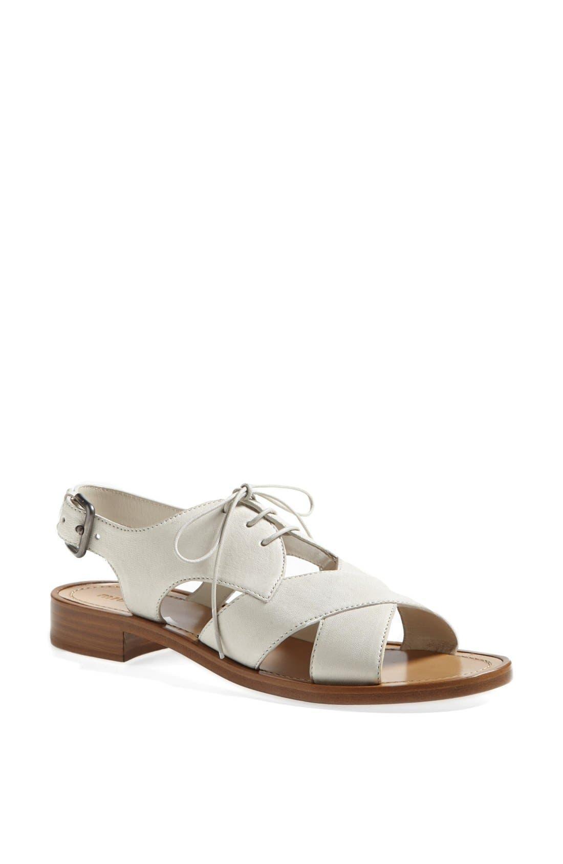 Main Image - Miu Miu Lace-Up Sandal