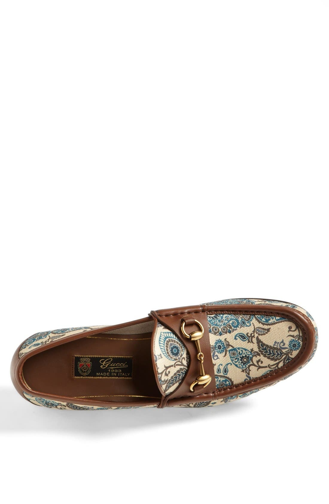 Alternate Image 3  - Gucci 'Roos' Paisley Bit Loafer