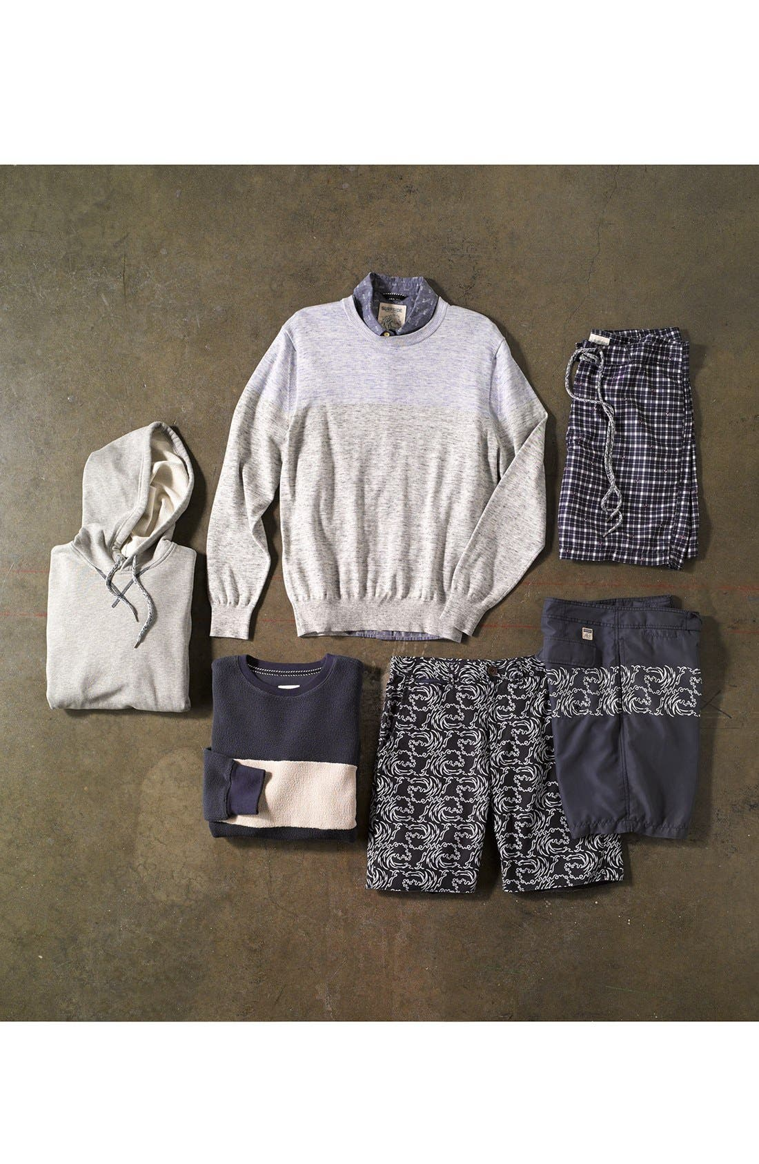 Alternate Image 4  - Surfside Supply Colorblock Heathered Cotton Sweater