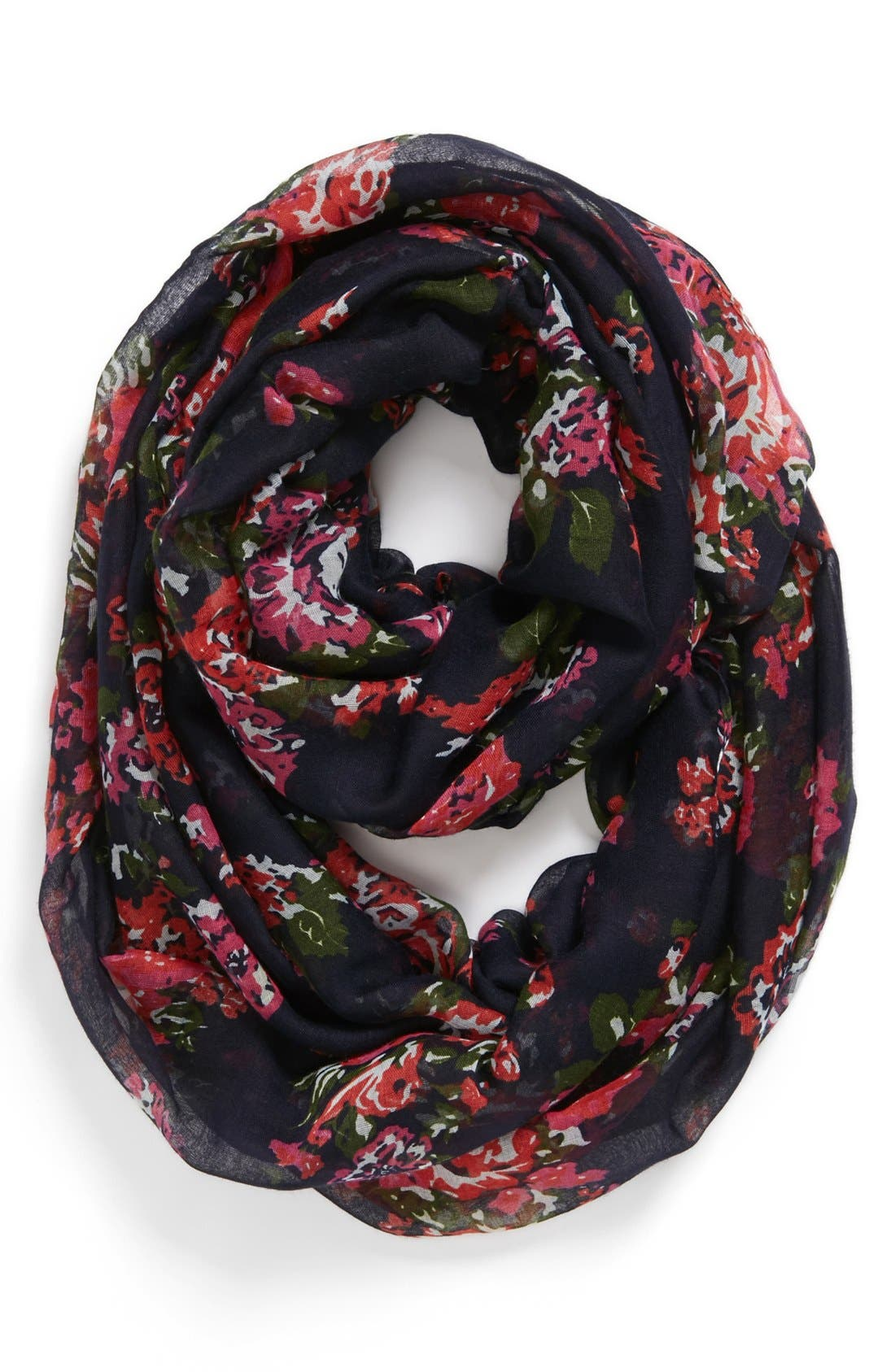 Alternate Image 1 Selected - Capelli of New York 'All Over Flora' Infinity Scarf (Juniors)