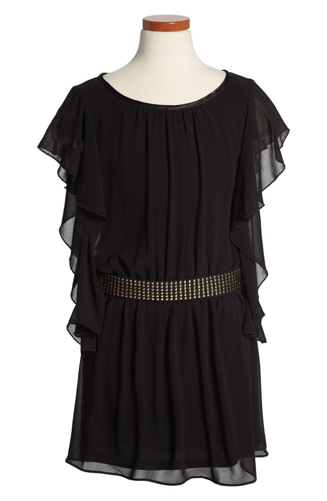 Main Image - Sally Miller Butterfly Sleeve Dress (Big Girls)
