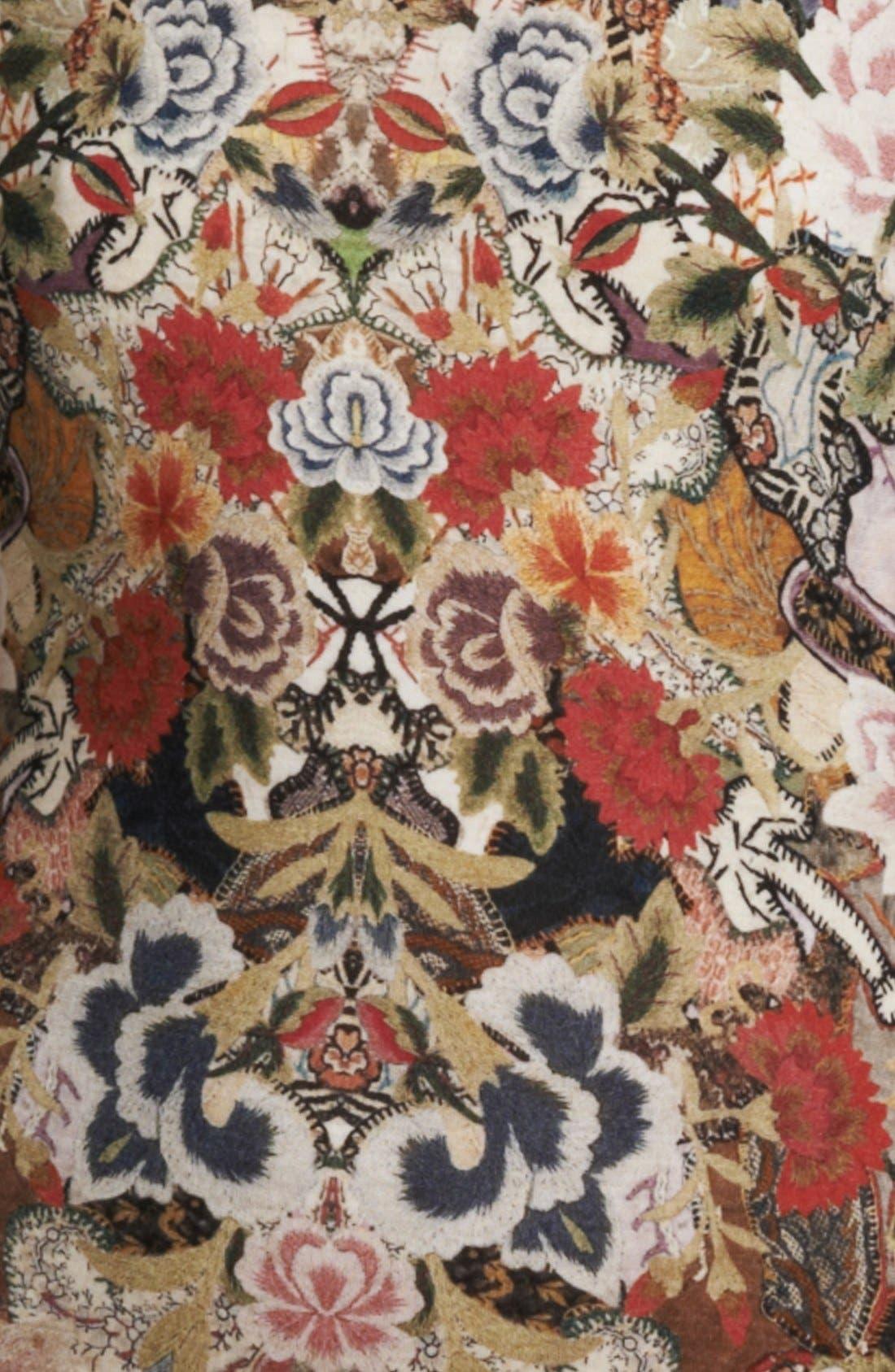Alternate Image 3  - Alexander McQueen Patchwork Floral Print Dress