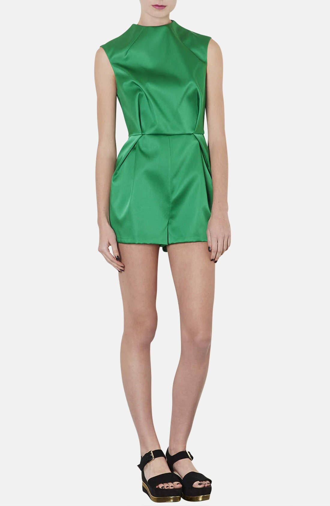 Alternate Image 1 Selected - Topshop High Neck Satin Romper