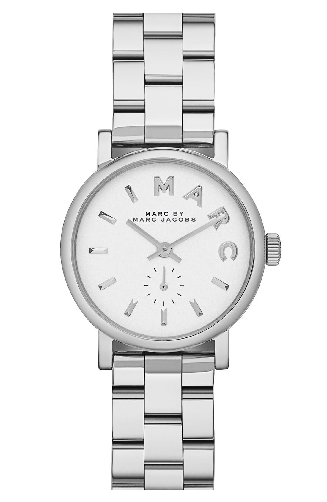 Main Image - MARC JACOBS 'Baker' Round Bracelet Watch, 28mm