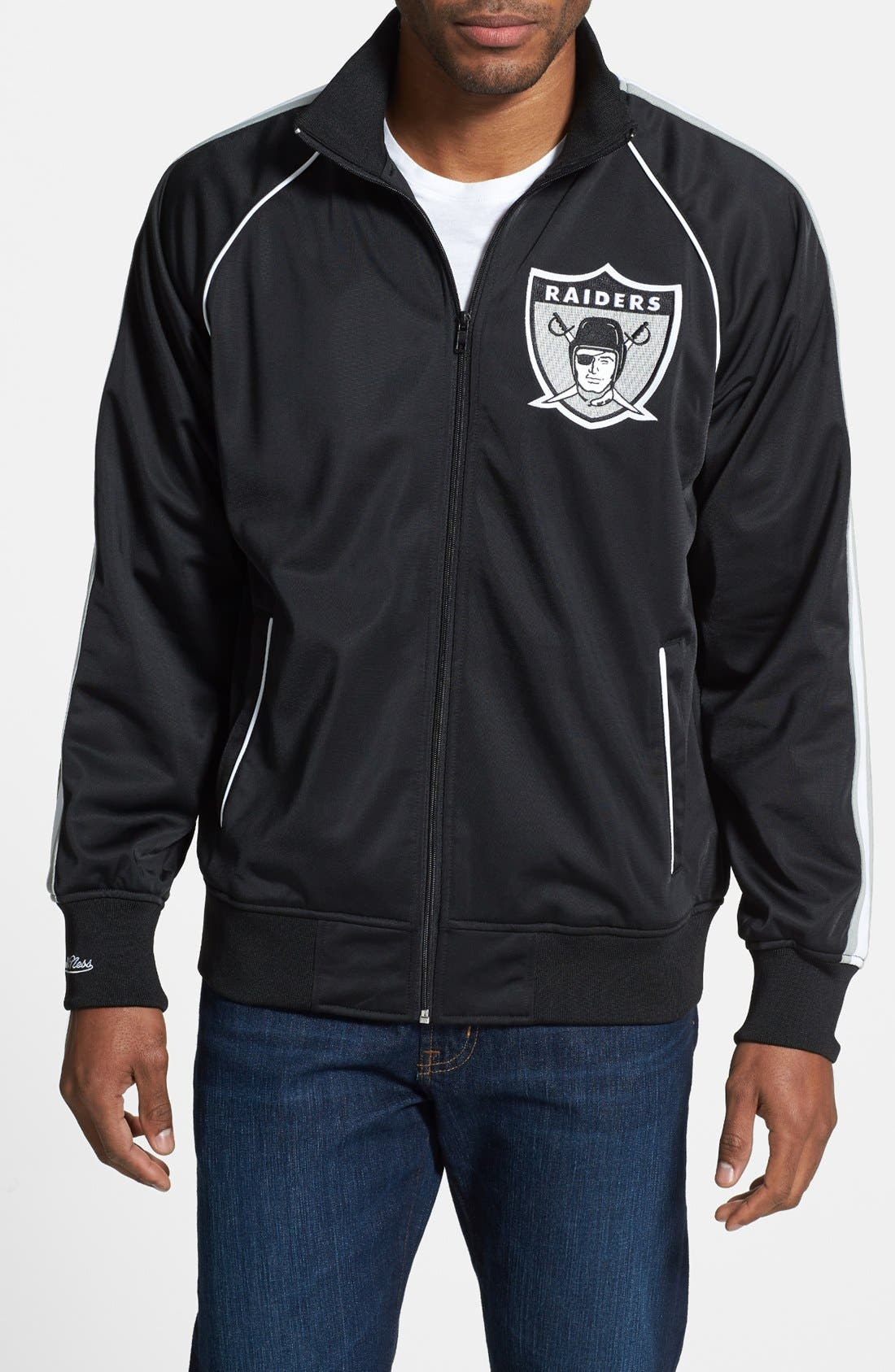 Alternate Image 1 Selected - Mitchell & Ness 'Snap Pass - Oakland Raiders' Track Jacket