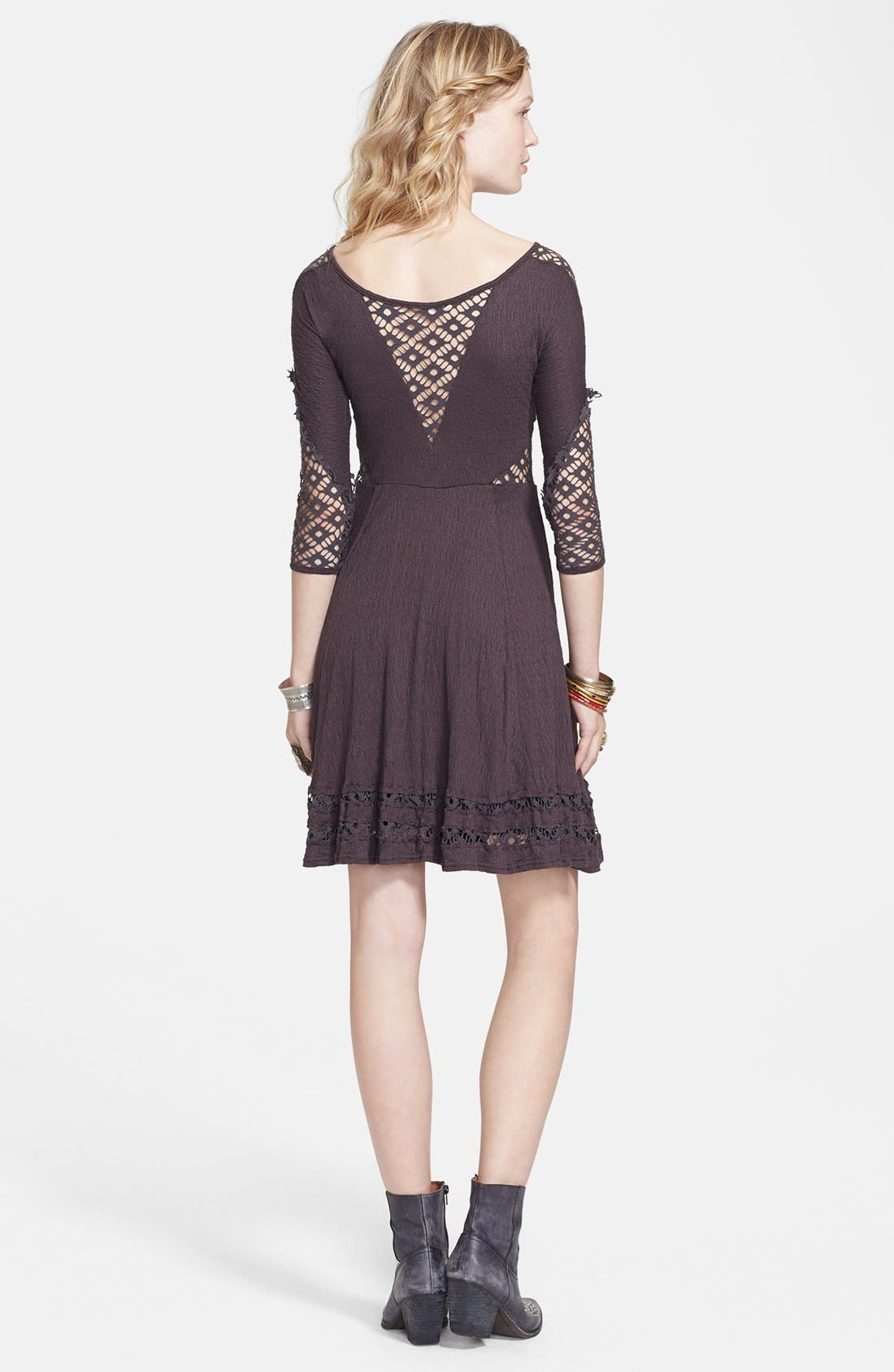 Alternate Image 3  - Free People 'To the Point' Lace Inset Crinkled Fit & Flare Dress