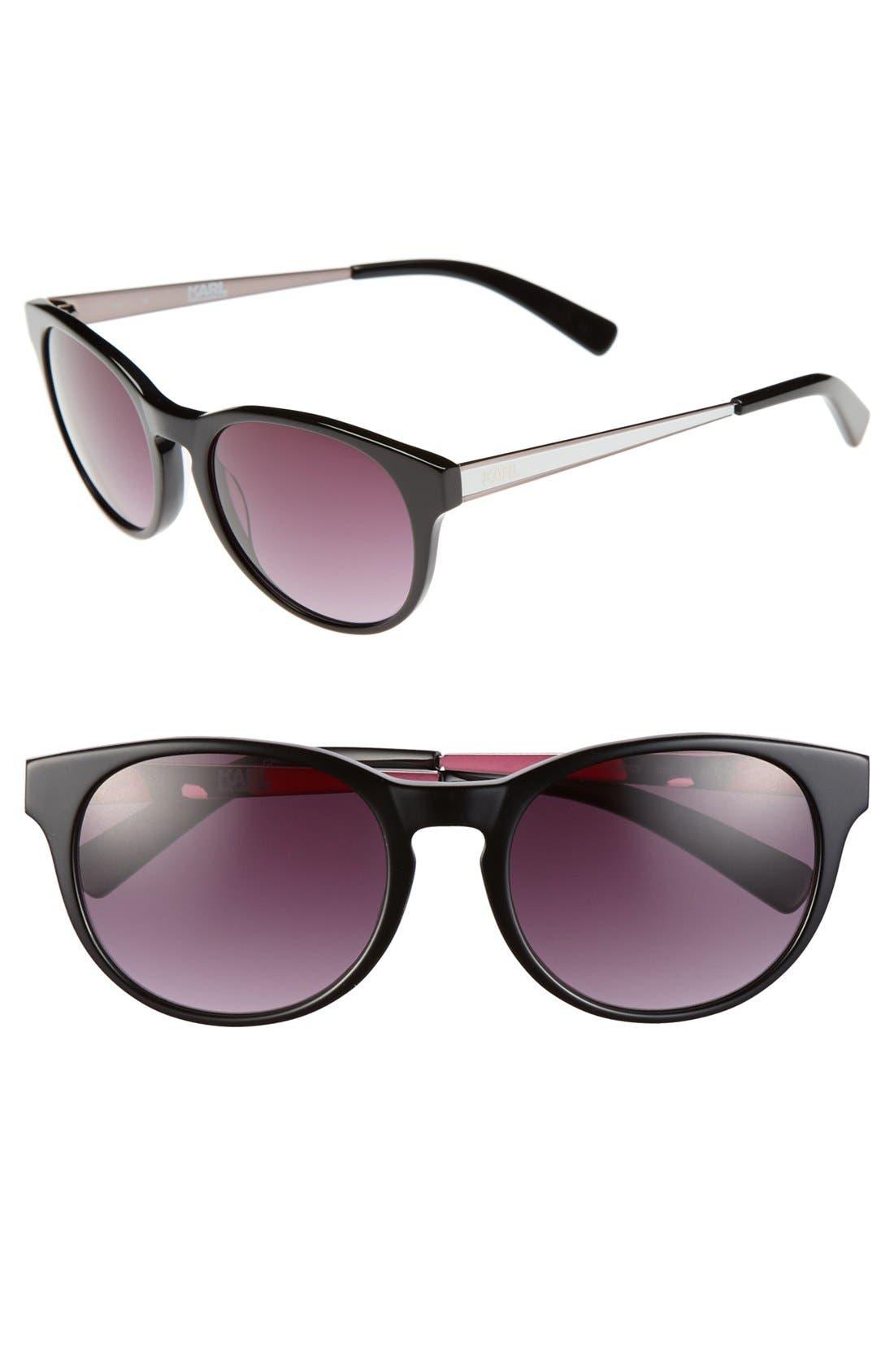 Main Image - Karl Lagerfeld 51mm Round Cat Eye Sunglasses