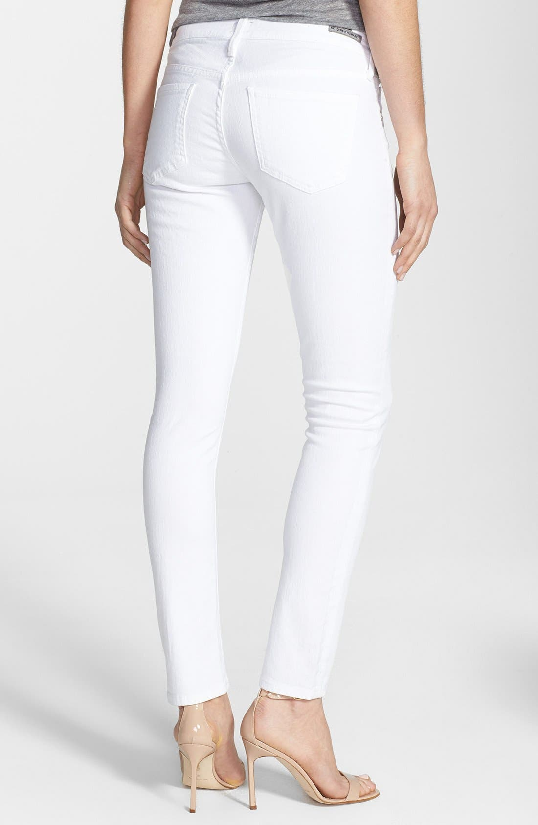 Alternate Image 2  - Citizens of Humanity 'Racer' Low Rise Skinny Jeans (Santorini White)