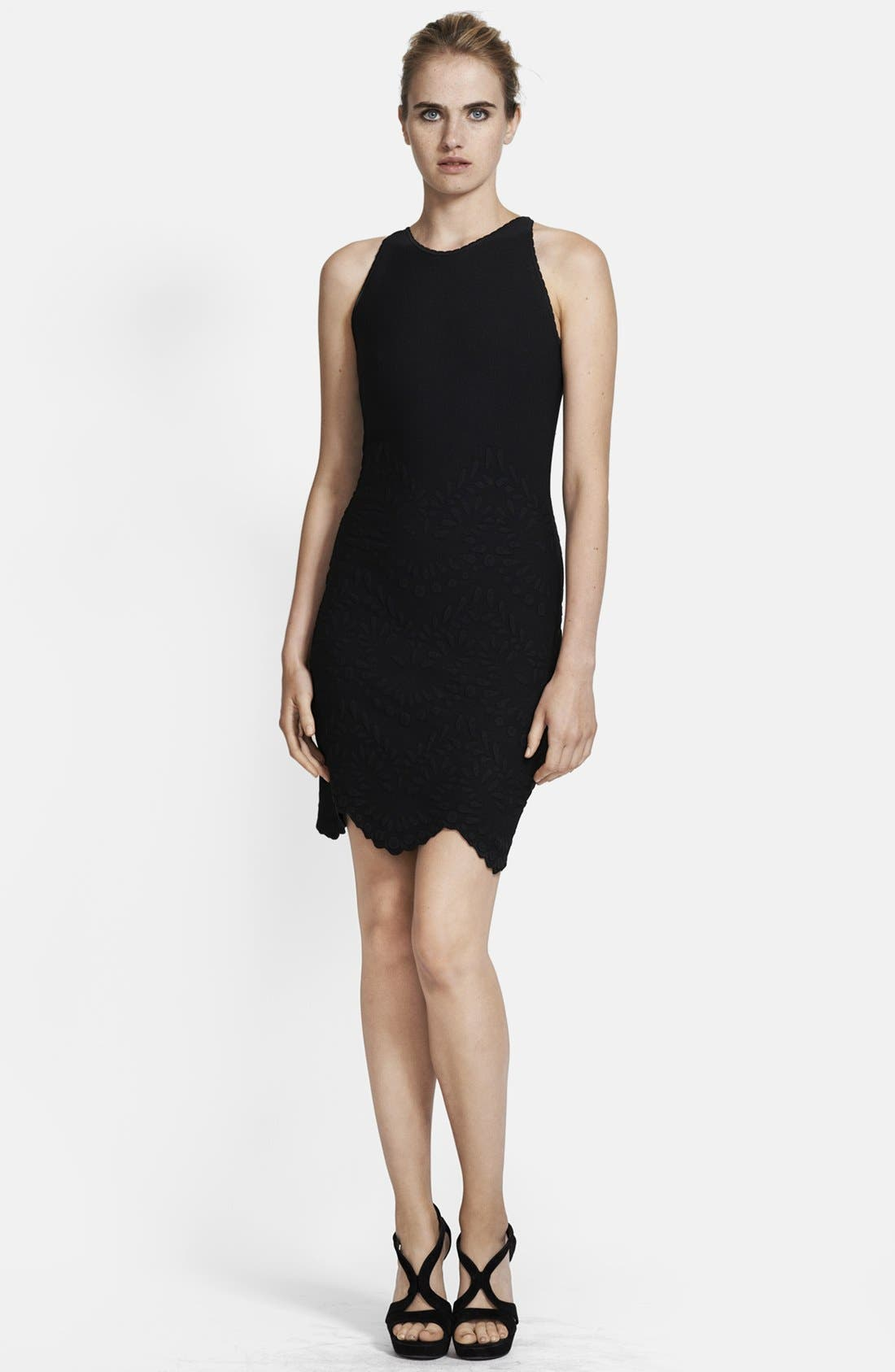 Alternate Image 1 Selected - Alexander McQueen Sleeveless Scallop Hem Dress