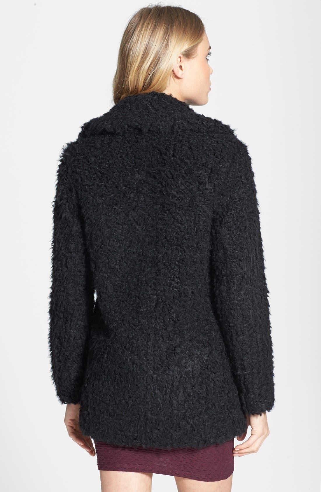 Alternate Image 2  - Topshop 'Teddy' Faux Fur Peacoat