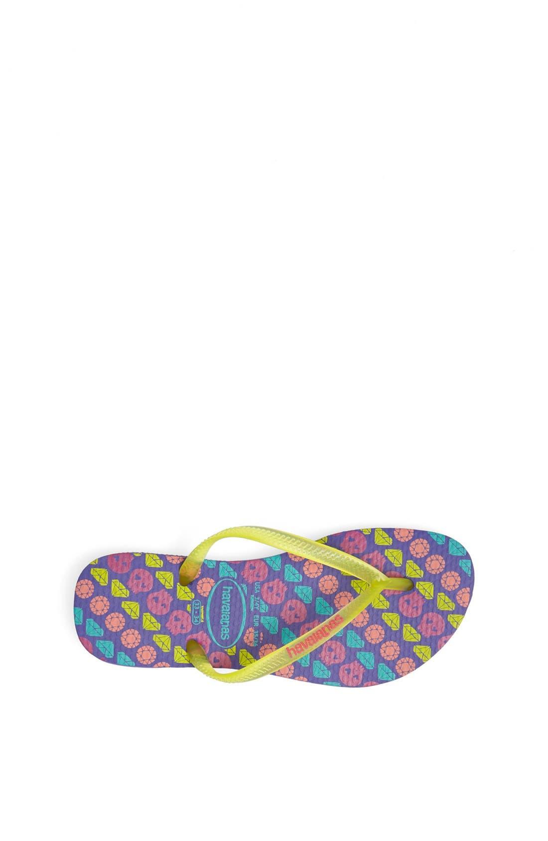 Alternate Image 3  - Havaianas 'Slim' Printed Flip-Flop (Toddler & Little Kid)