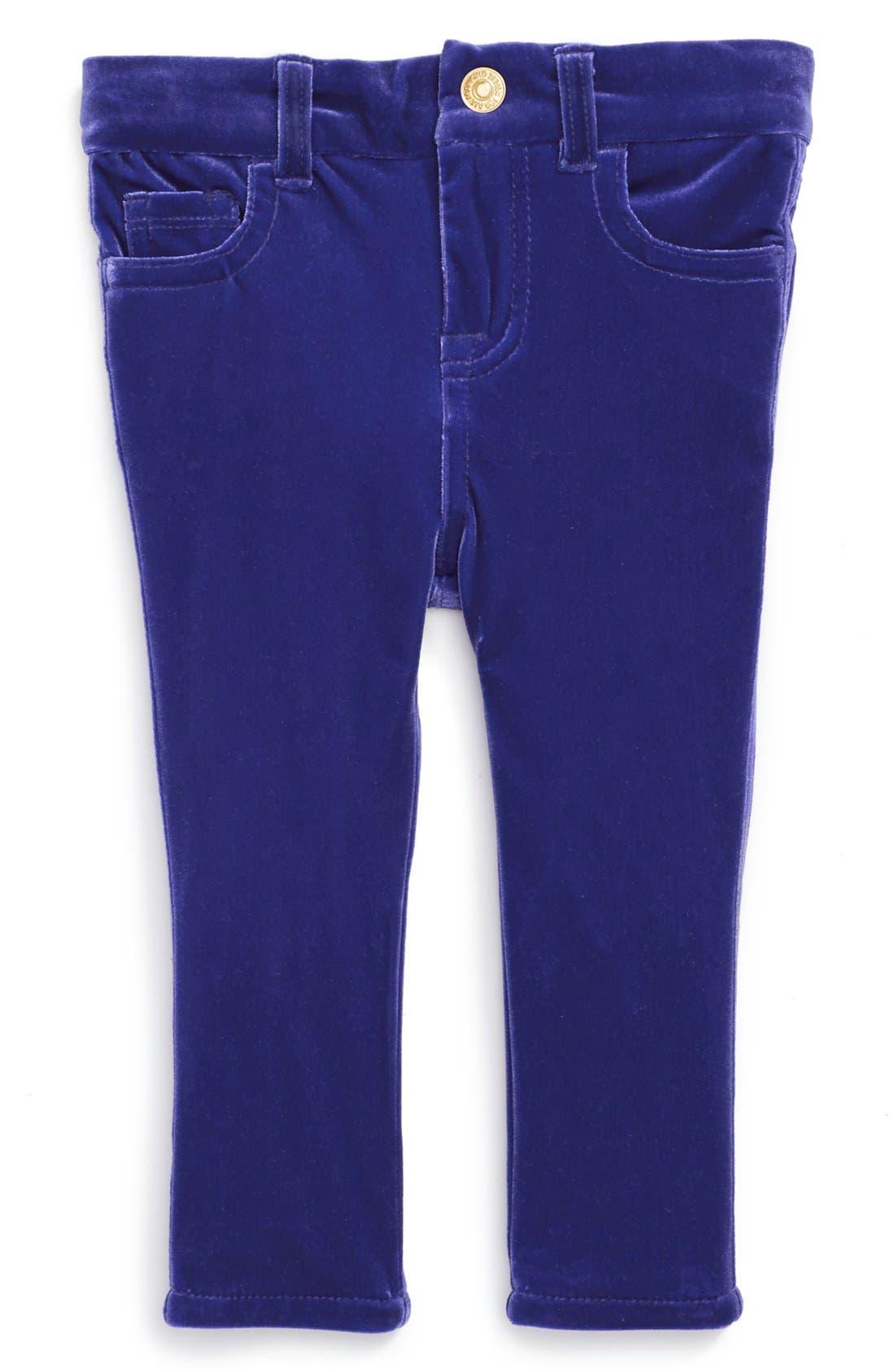 Alternate Image 2  - 7 For All Mankind® 'The Skinny' Stretch Velveteen Jeans (Baby Girls)