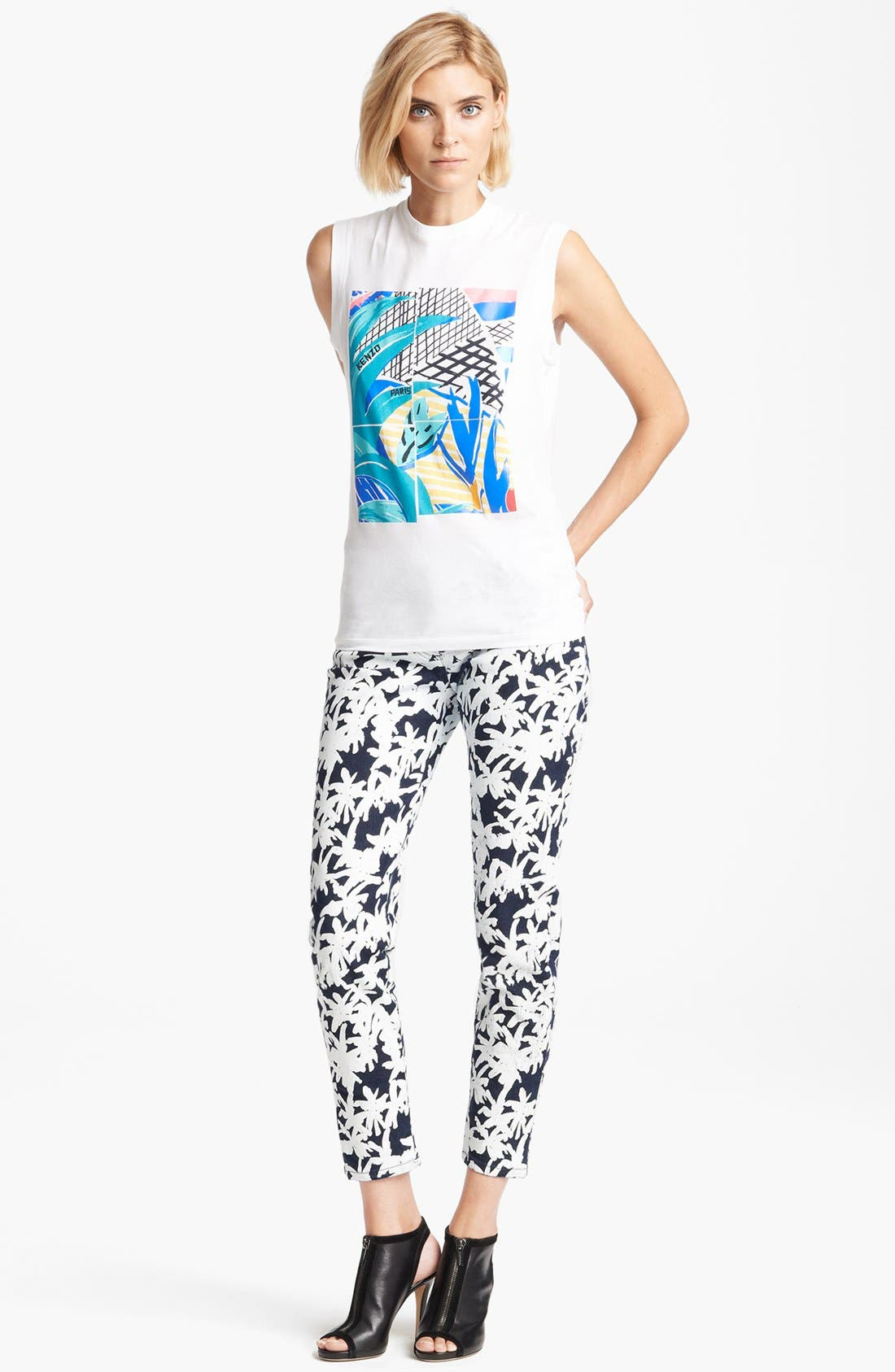 Alternate Image 3  - KENZO Palm Print Muscle Tee