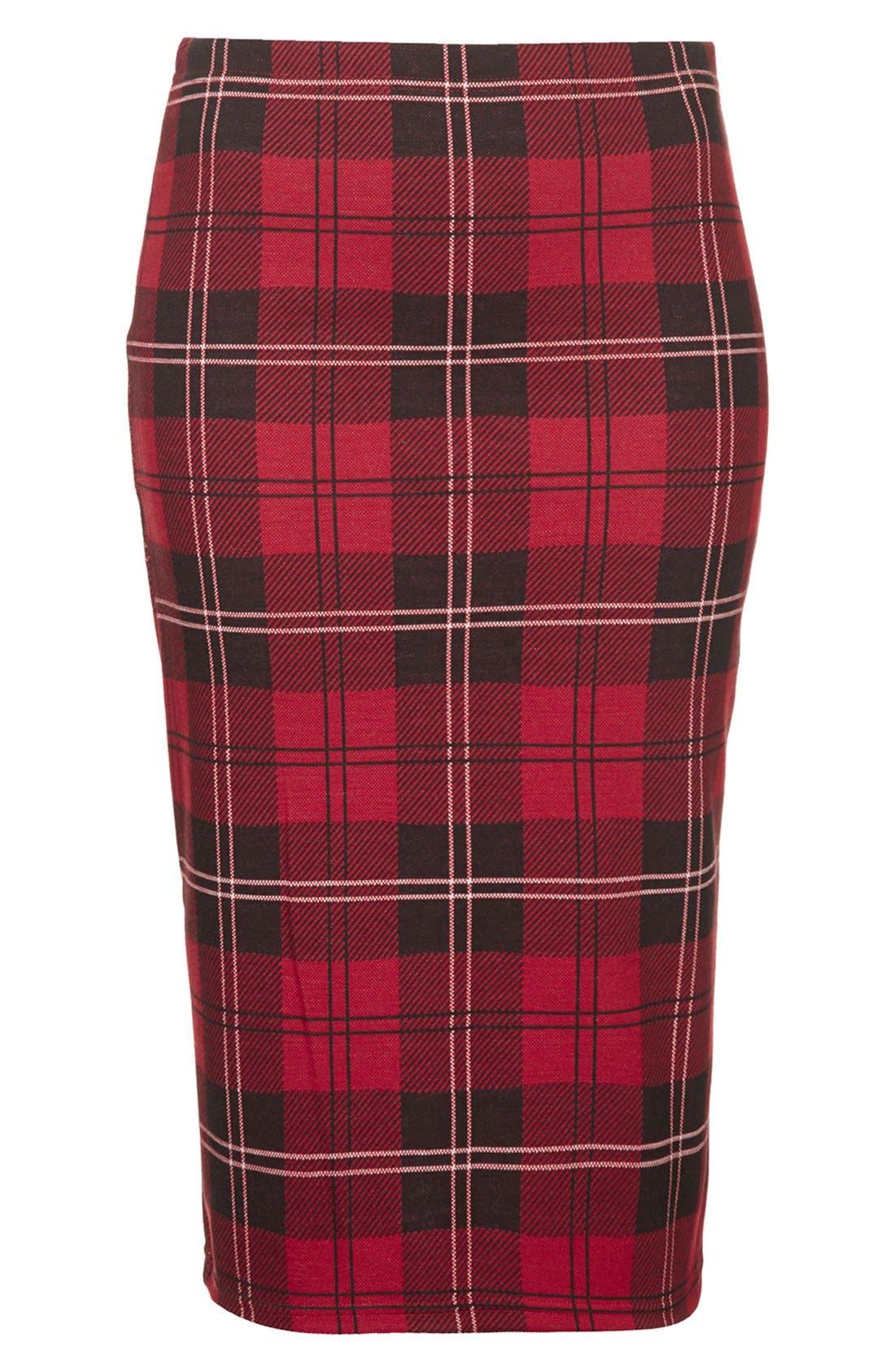 Alternate Image 3  - Topshop Plaid Tube Skirt