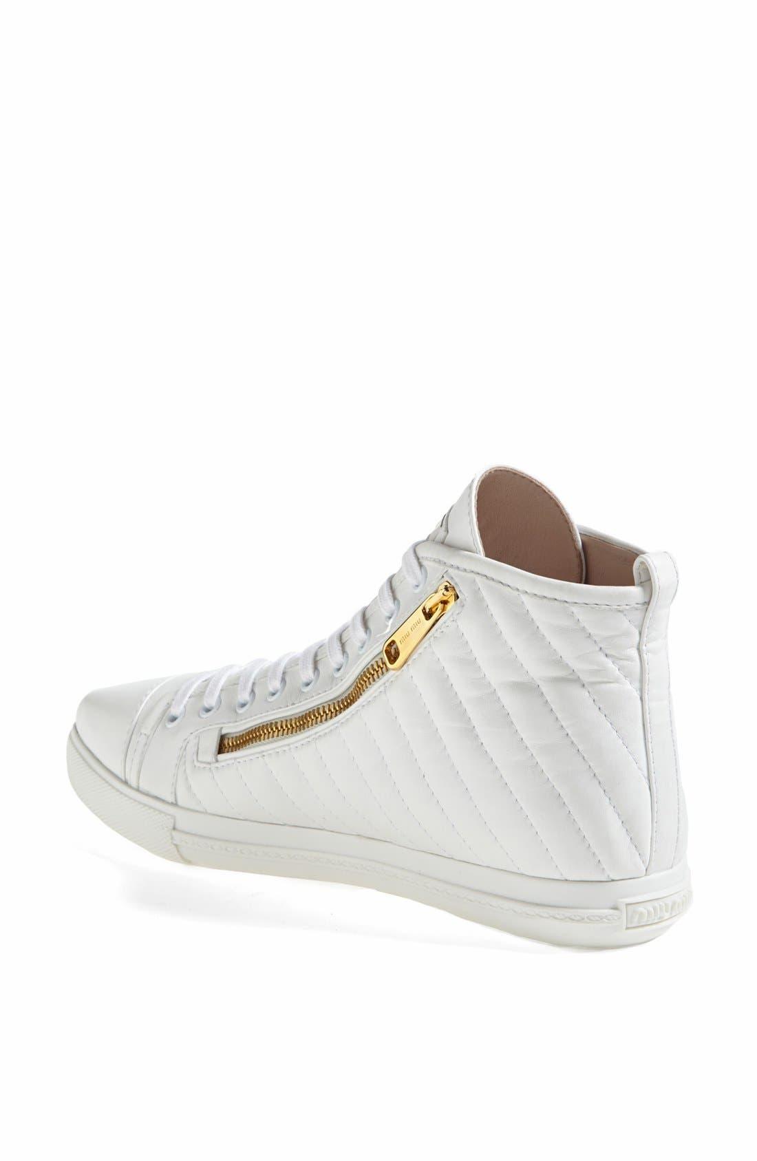 Alternate Image 2  - Miu Miu Side Zip High Top Sneaker