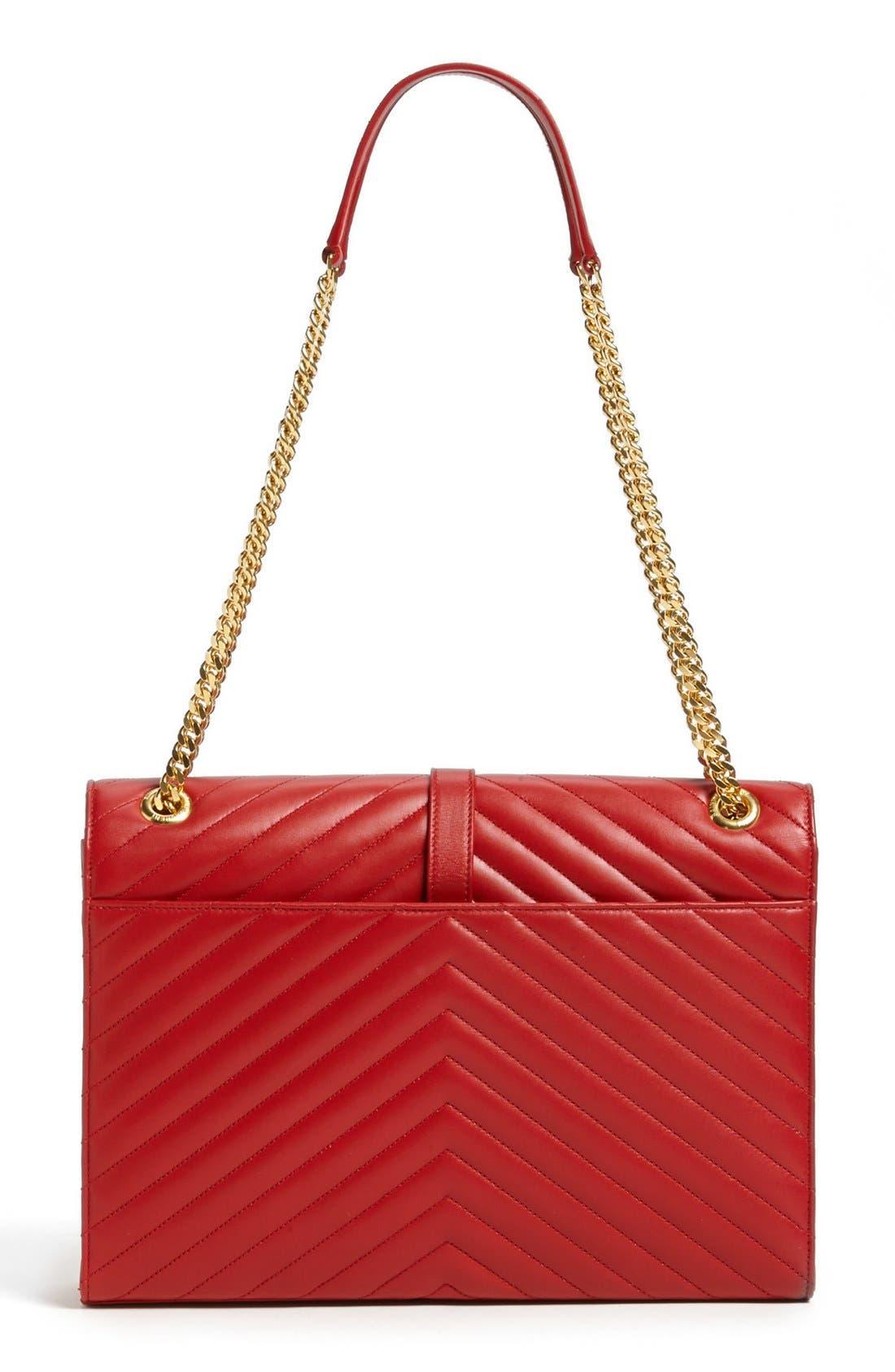 Alternate Image 4  - Saint Laurent 'Cassandre Lisse - Large' Shoulder Bag