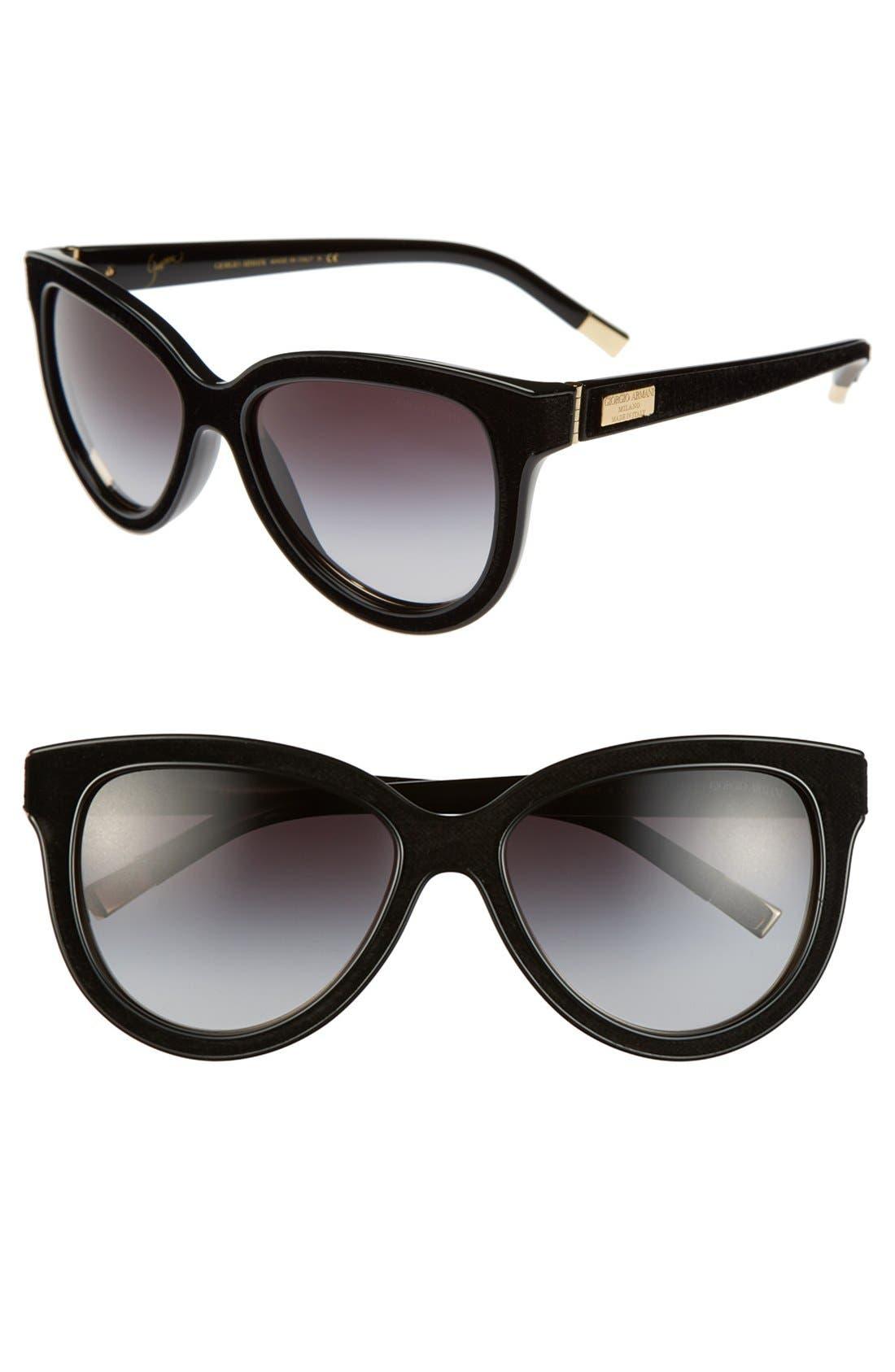 Alternate Image 1 Selected - Giorgio Armani 'Garçonne' 57mm Cat Eye Sunglasses