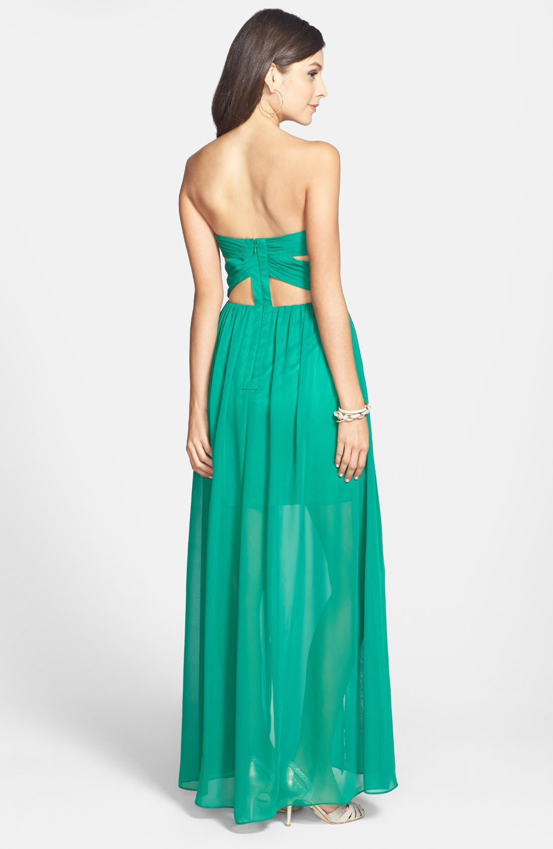 Alternate Image 2  - Hailey Logan Embellished Cutout Gown (Juniors)