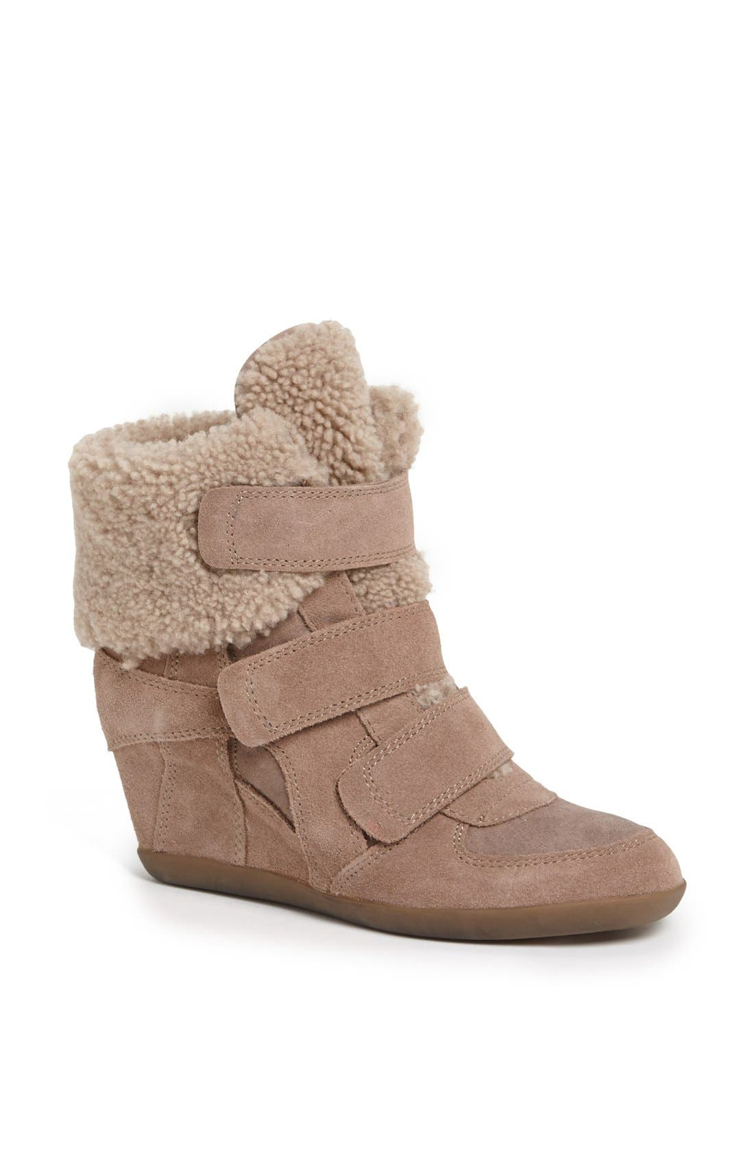 Alternate Image 1 Selected - Ash 'Brizz' Shearling Cuff Hidden Wedge Sneaker