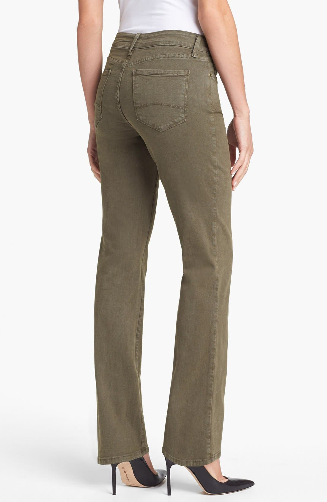 Alternate Image 2  - NYDJ 'Barbara' Colored Stretch Bootcut Jeans