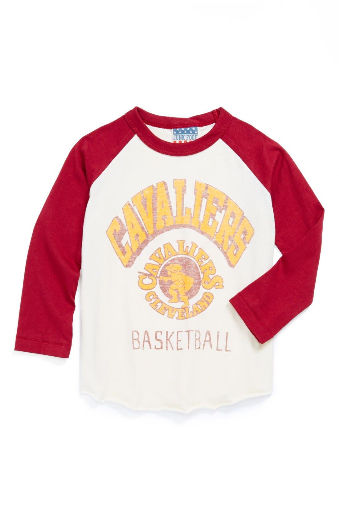 Alternate Image 1 Selected - Junk Food 'Cleveland Cavaliers' Long Sleeve T-Shirt (Little Boys & Big Boys)