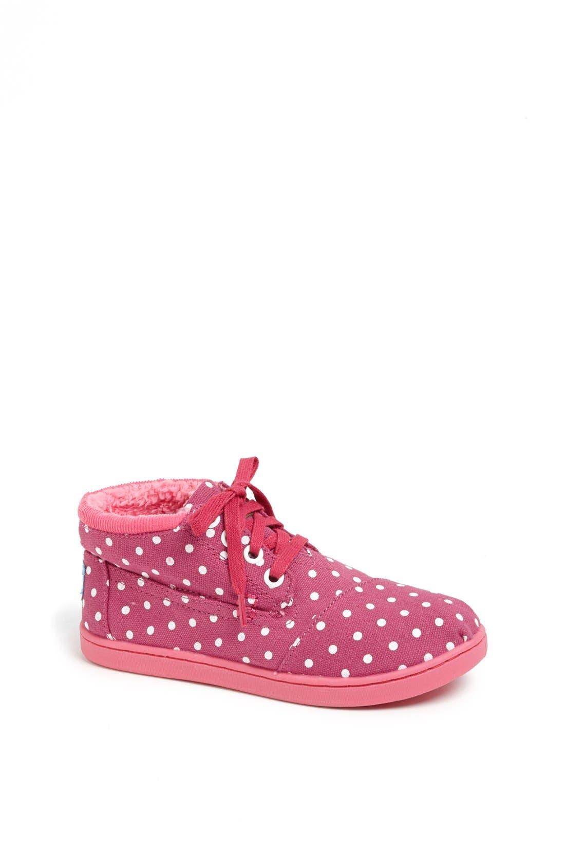 Main Image - TOMS 'Botas - Youth' High Top Sneaker (Toddler, Little Kid & Big Kid)