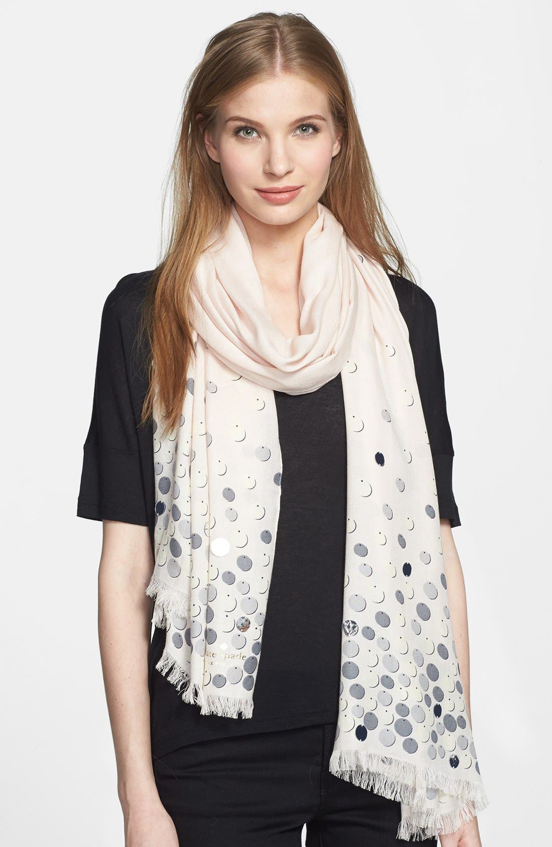 Main Image - kate spade new york 'paillettes' scarf