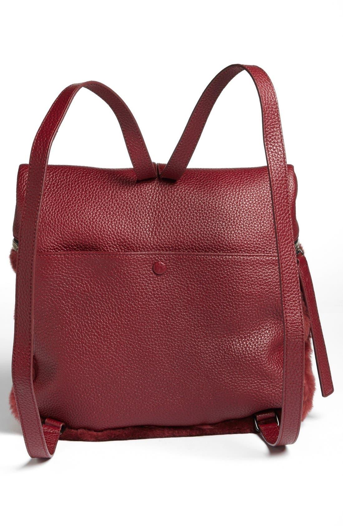 Alternate Image 4  - Kara Genuine Shearling Backpack, Medium