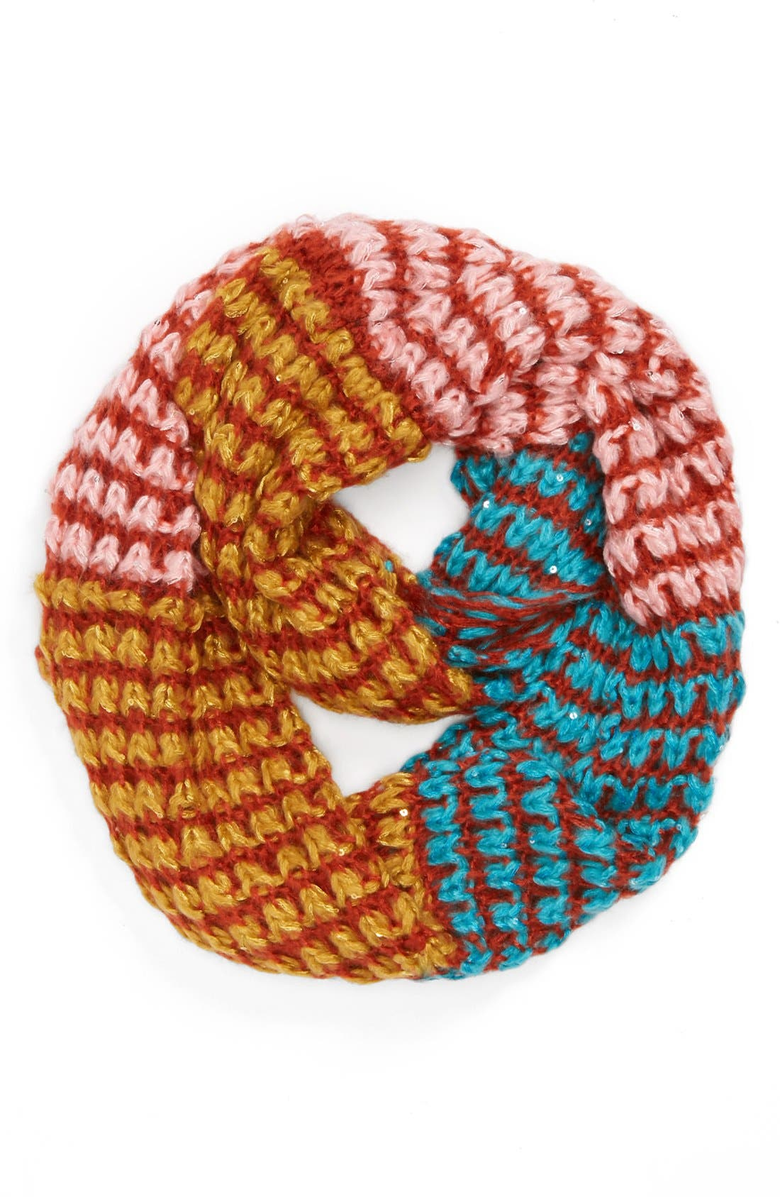 Main Image - Evelyn K Chunky Colorblock Infinity Scarf