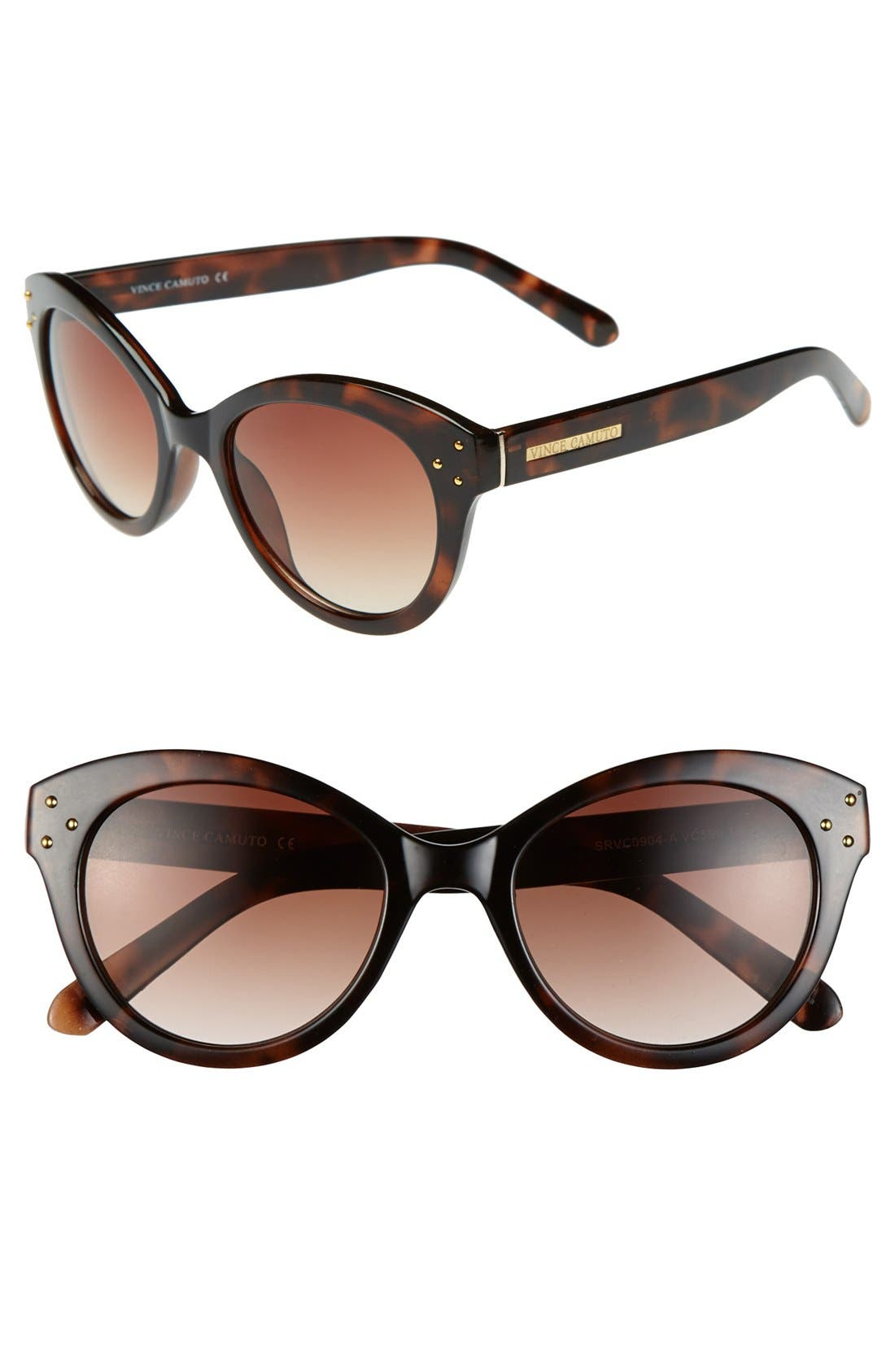 Alternate Image 1 Selected - Vince Camuto 51mm Retro Cat Eye Sunglasses