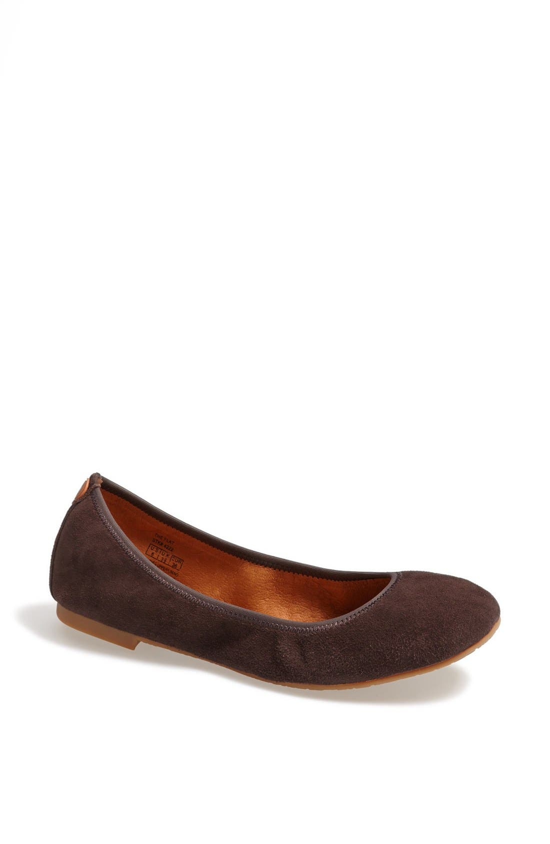 Alternate Image 1 Selected - Juil 'The Flat' Earthing Suede Ballet Flat